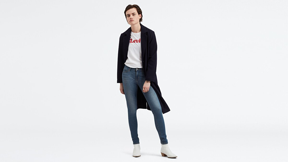 Levi's® 711 Skinny Believe It or Not Kadın Jean Pantolon Mavi
