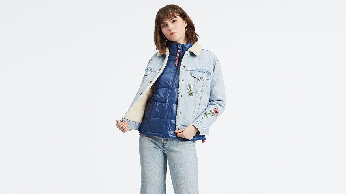 Levi's® Sherpa Trucker Kadın Jean Ceket