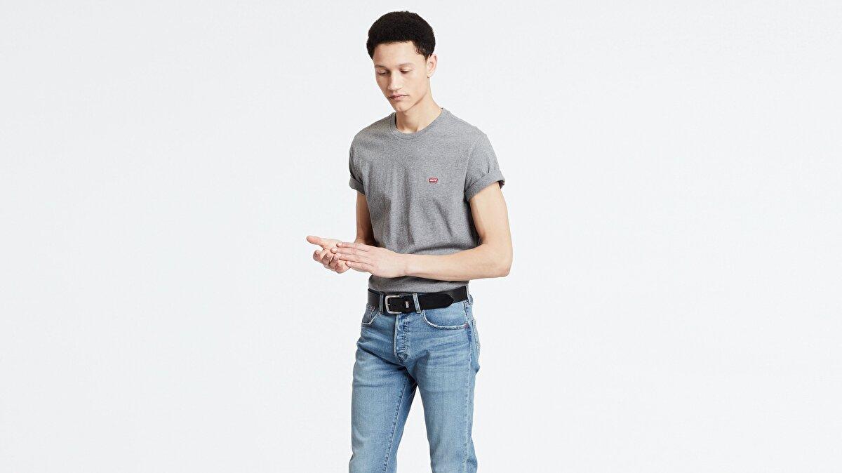Levi's® SS Original HM Tee Charcoal Heather Erkek Gri T-Shirt