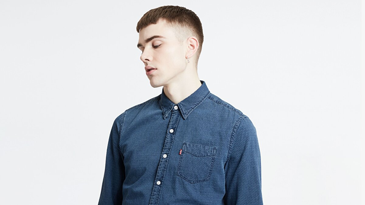 Levi's® Sunset 1 Pocket Shirt Wheatland Indigo Erkek Mavi Gömlek