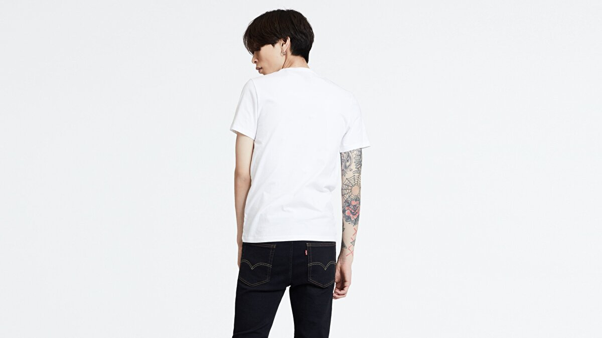 Levi's® 2PK Crewneck Graphic 2 Pack SW White/ M Erkek İkili T-Shirt