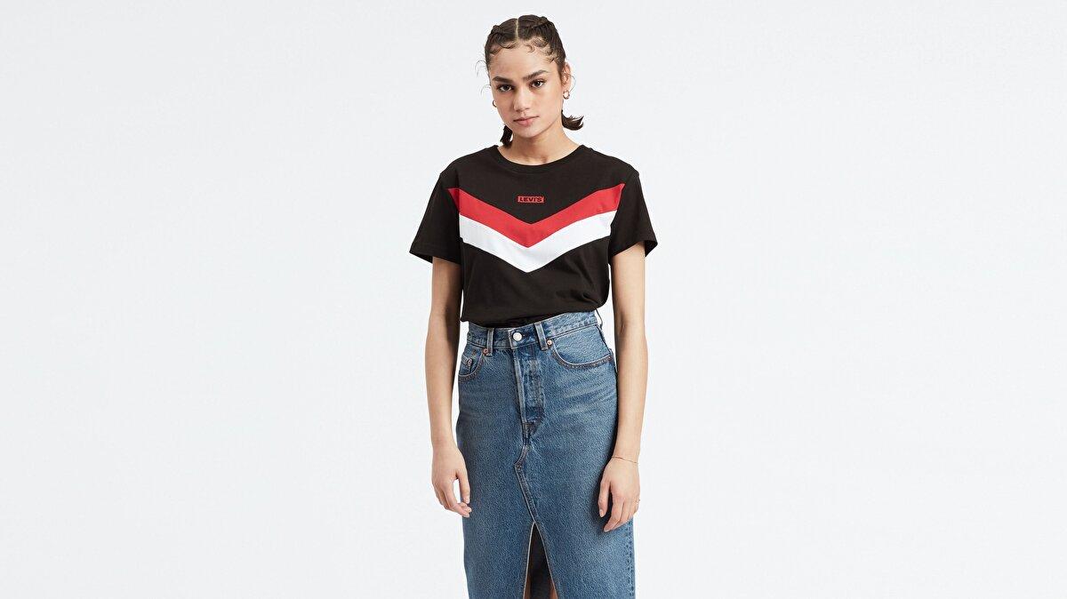 Levi's® Florence Tee Meteorite Gra Kadın Siyah T-Shirt