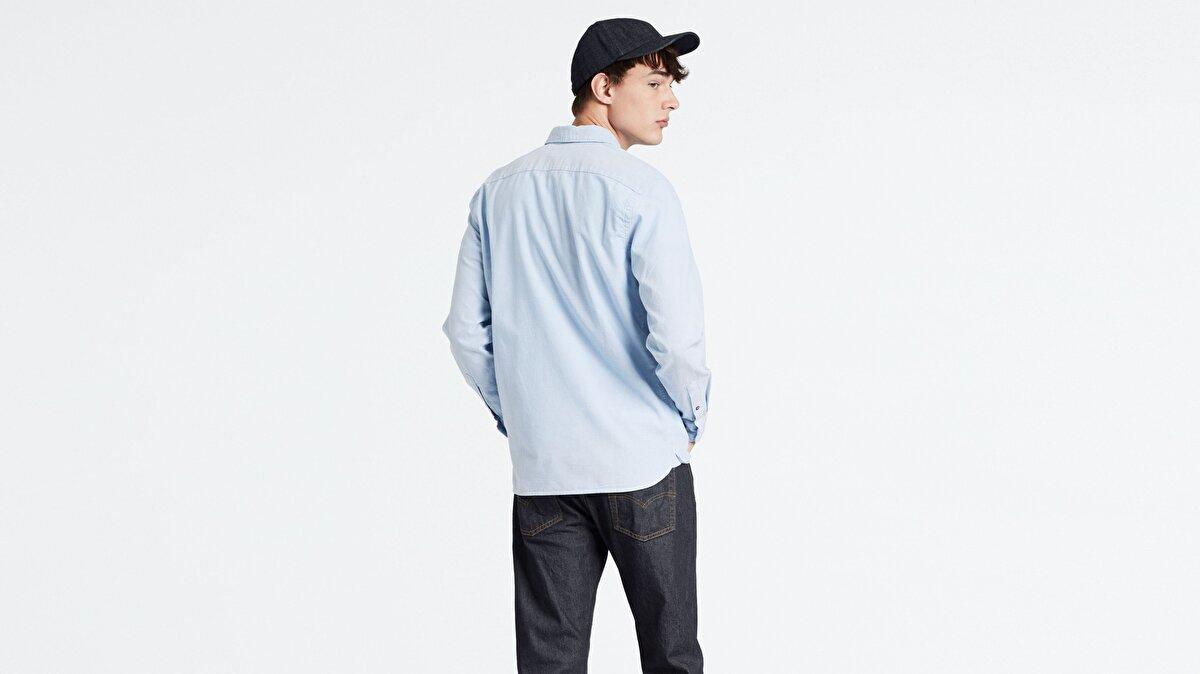 Levi's® LS Battery HM Shirt Allure Erkek Açık Mavi Gömlek