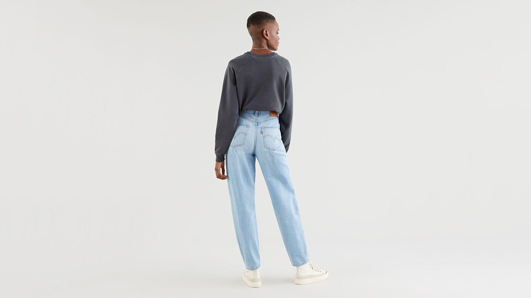 High Loose Kadın Taper Jean Pantolon-Way Out Tencel