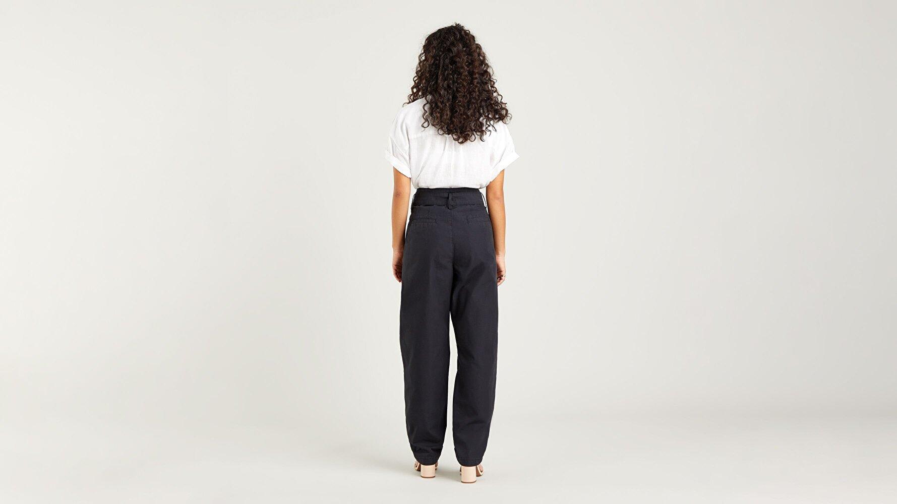 Tailor Yüksek Bel Taper Kadın Jean Pantolon-Soft Structure Caviar