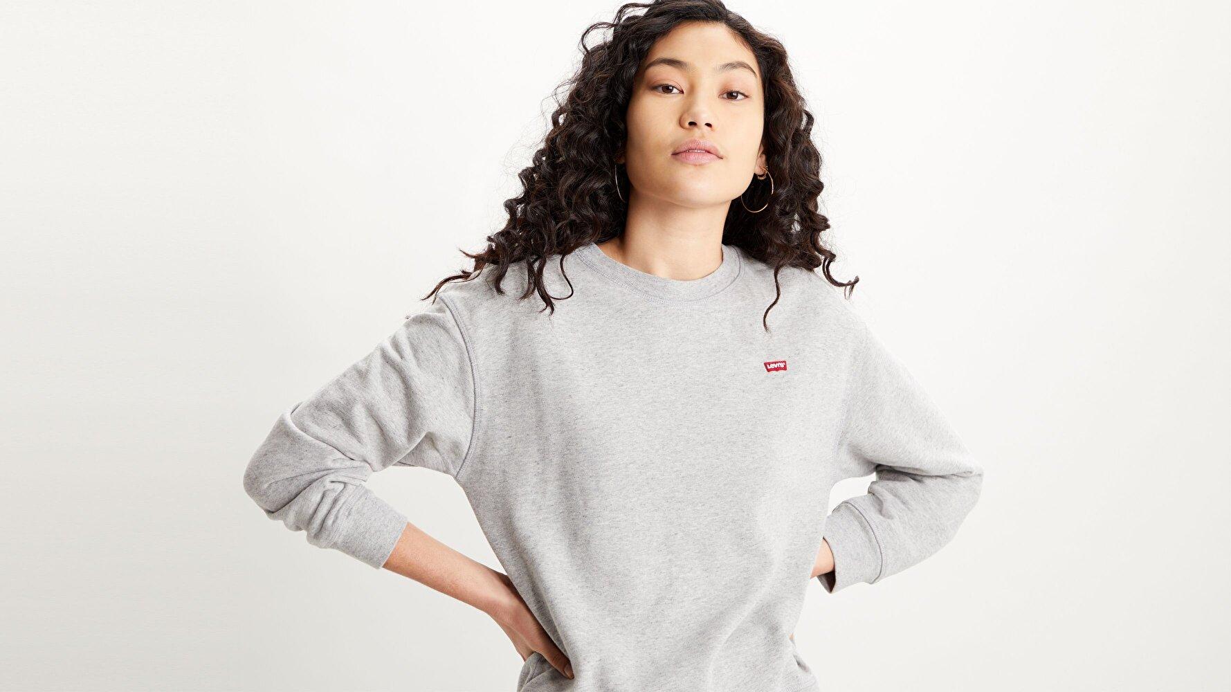 Standard Crew Smokestack Heather Gri Kadın Sweatshirt