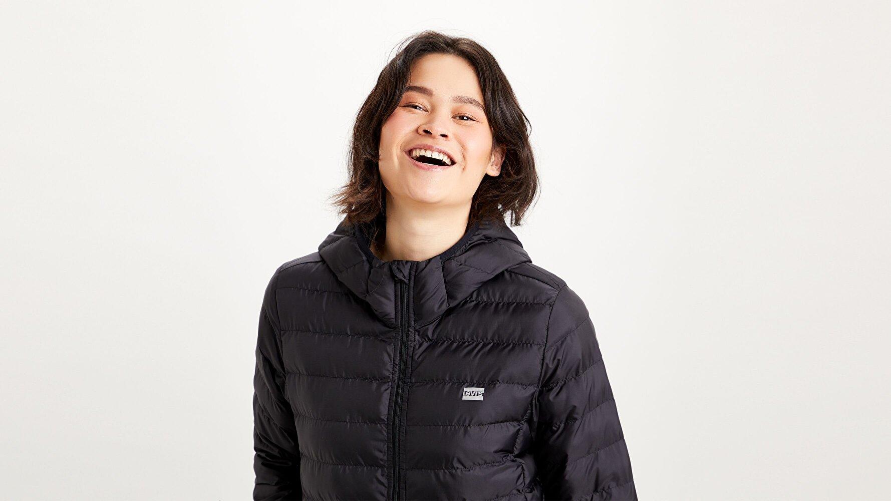 Pandora Packable Kadın Siyah Ceket
