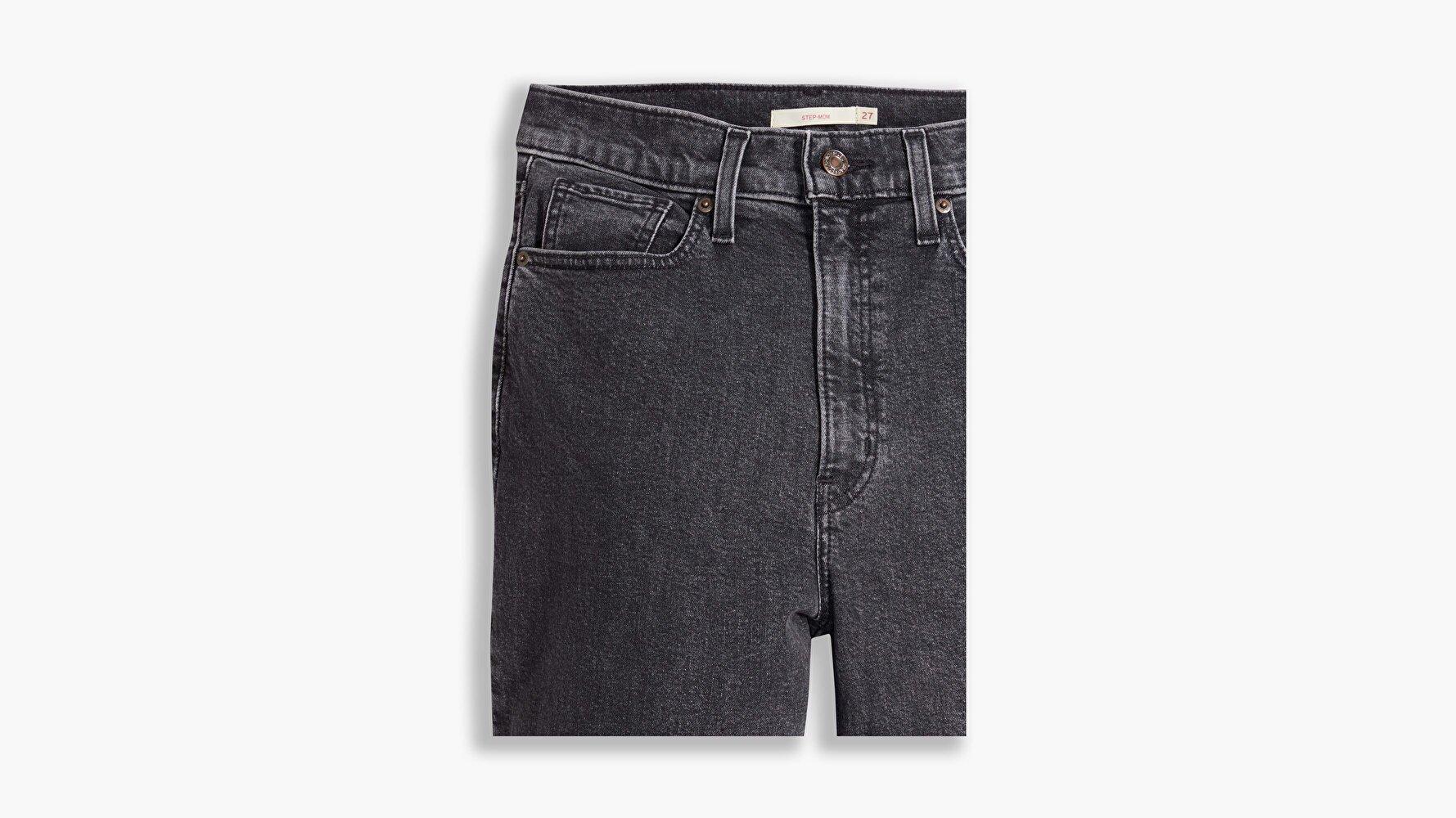 Yüksek Bel Tapered Fit Kadın Jean Pantolon-Bomb Dot Com