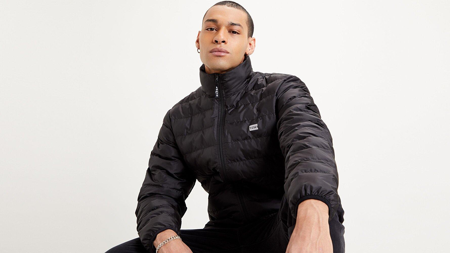 Presidio Packable Jacket  Siyah Erkek Ceket