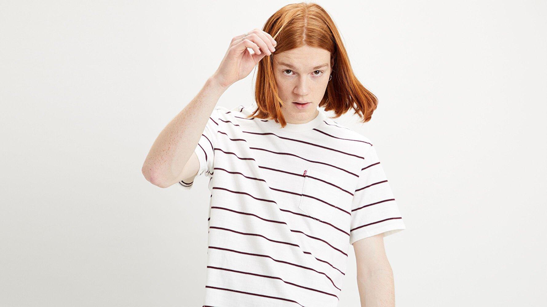 Ss Sunset Pocket Tee '20 Saturday Stripe Çok renkli Erkek Tişört