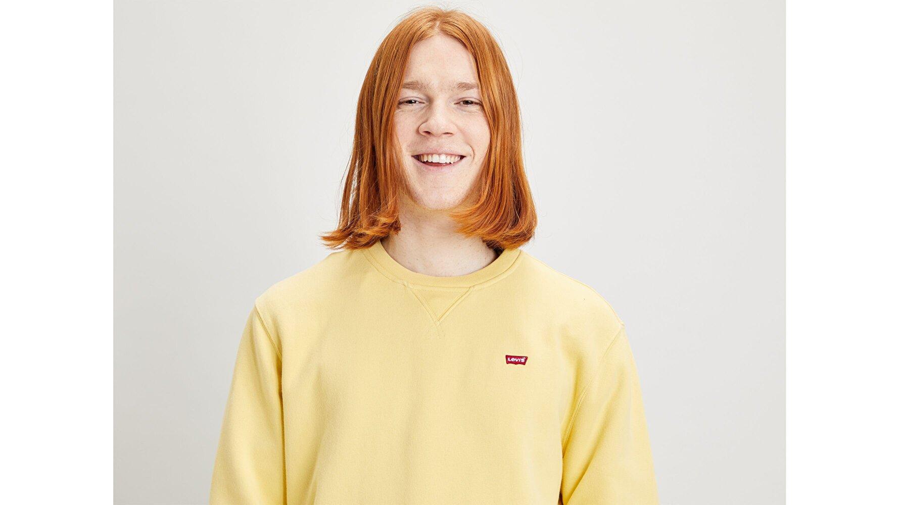 New Original Crew Dusky Citron Sarı Erkek Sweatshirt