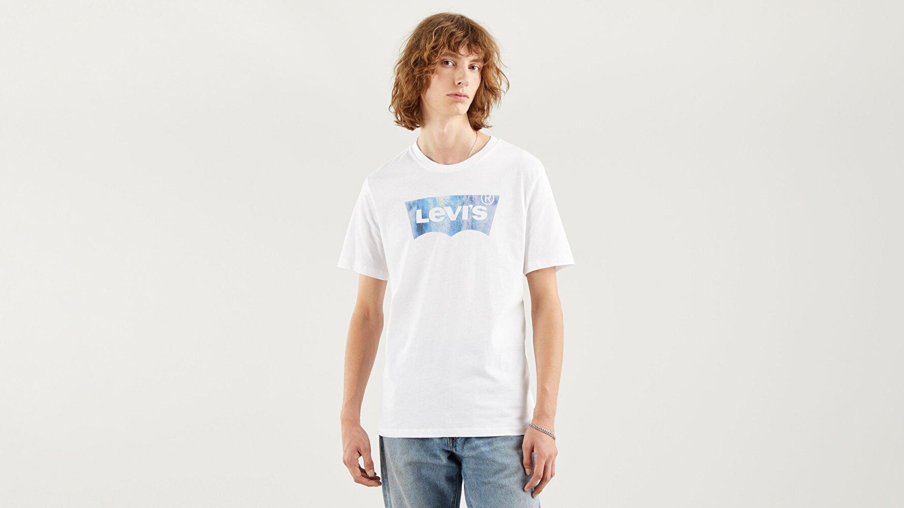 Housemark Graphic Tee Ssnl Bw Fill Beyaz  Erkek Tişört