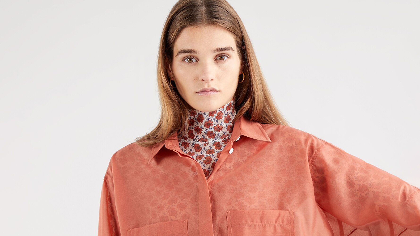 Eunice Utility Shirt Aragon Kırmızı  Kadın Gömlek
