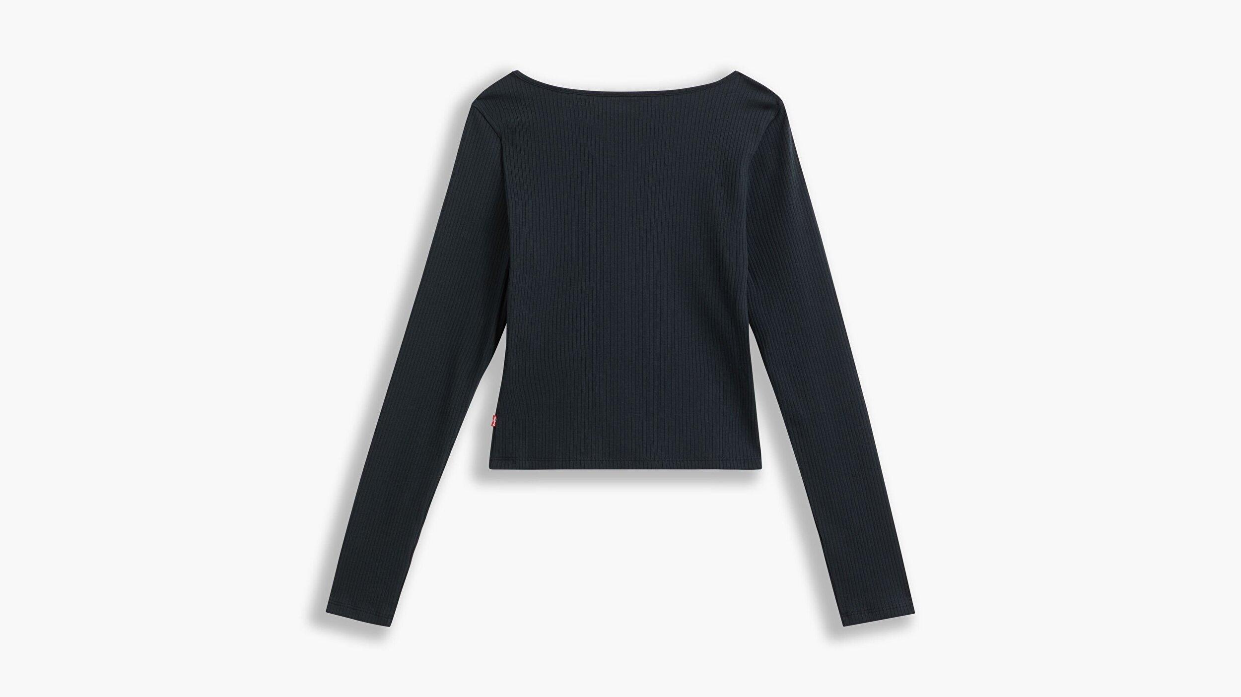 Brandy Ls Tee Caviar Siyah Kadın Tişört