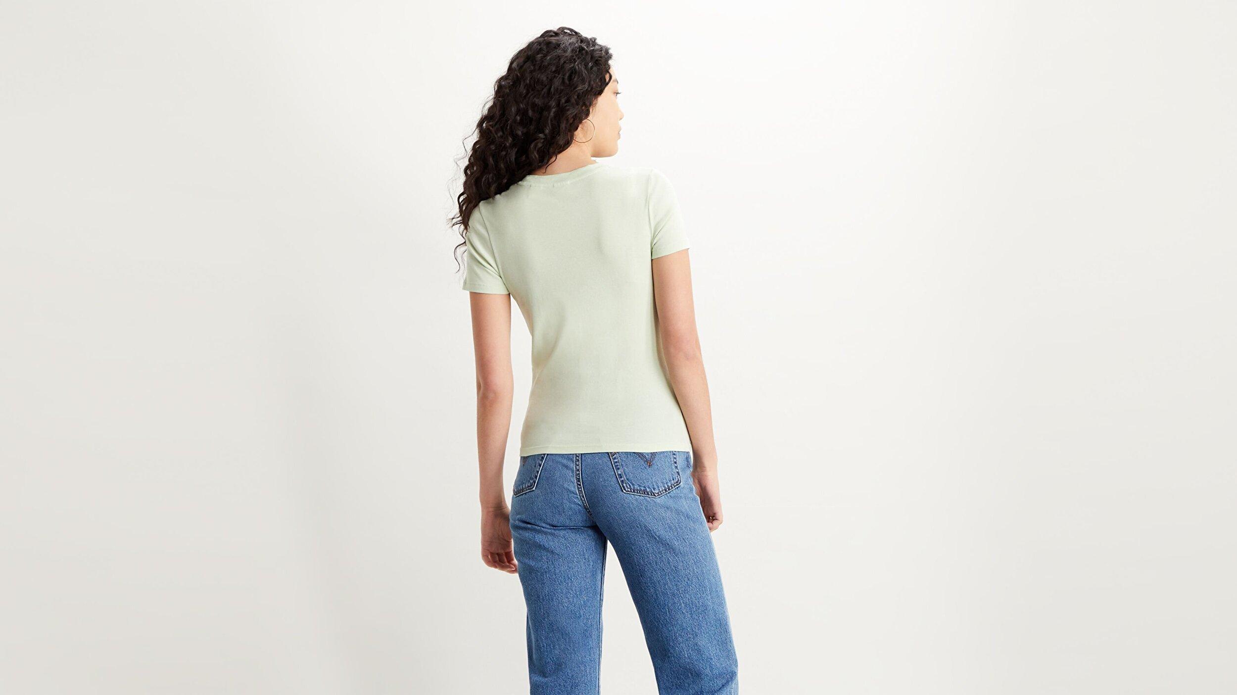 Ss Rib Baby Tee Tr Yeşil Kadın Tişört