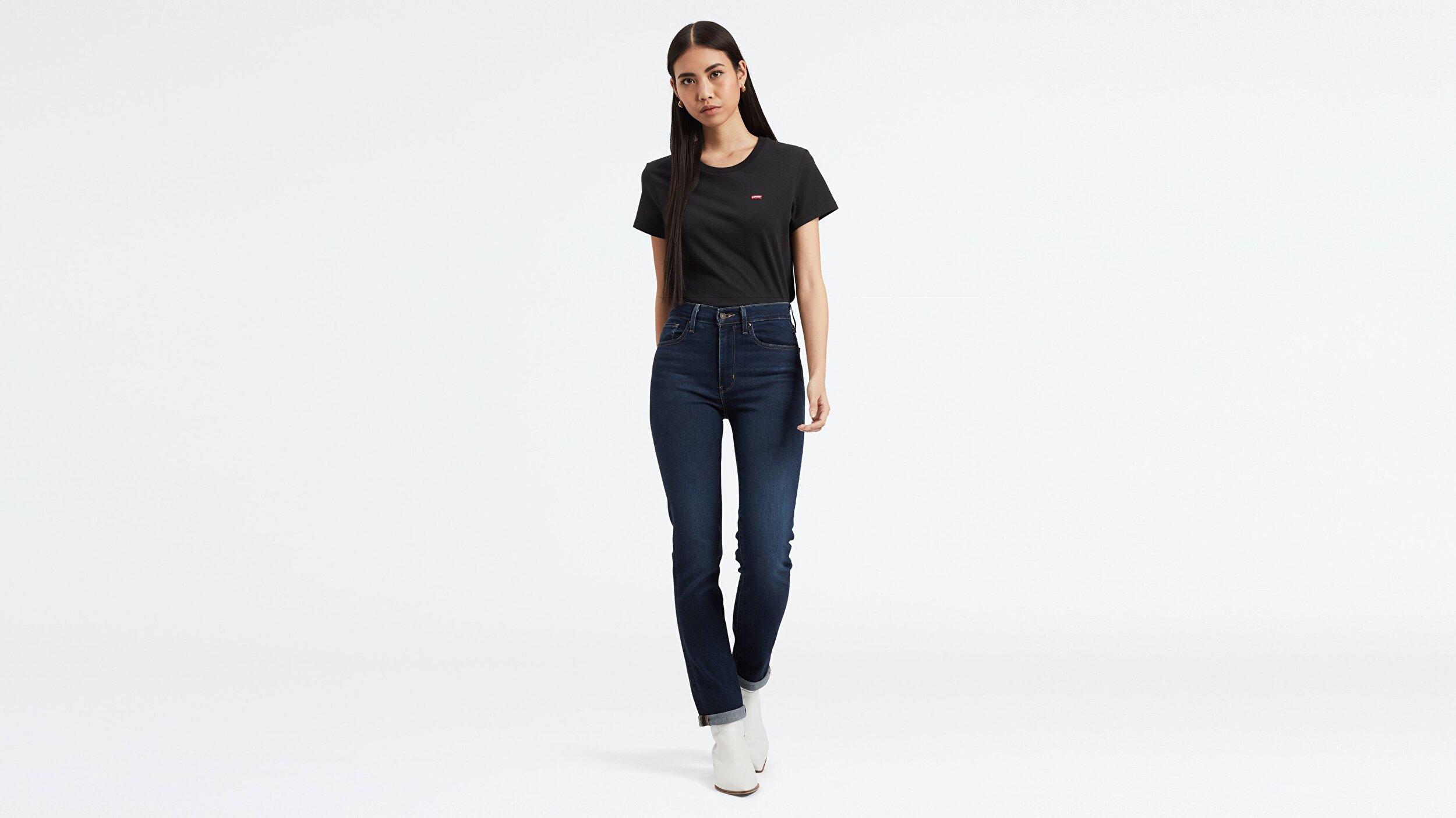 724 High Rise Straight Kadın Jean Pantolon