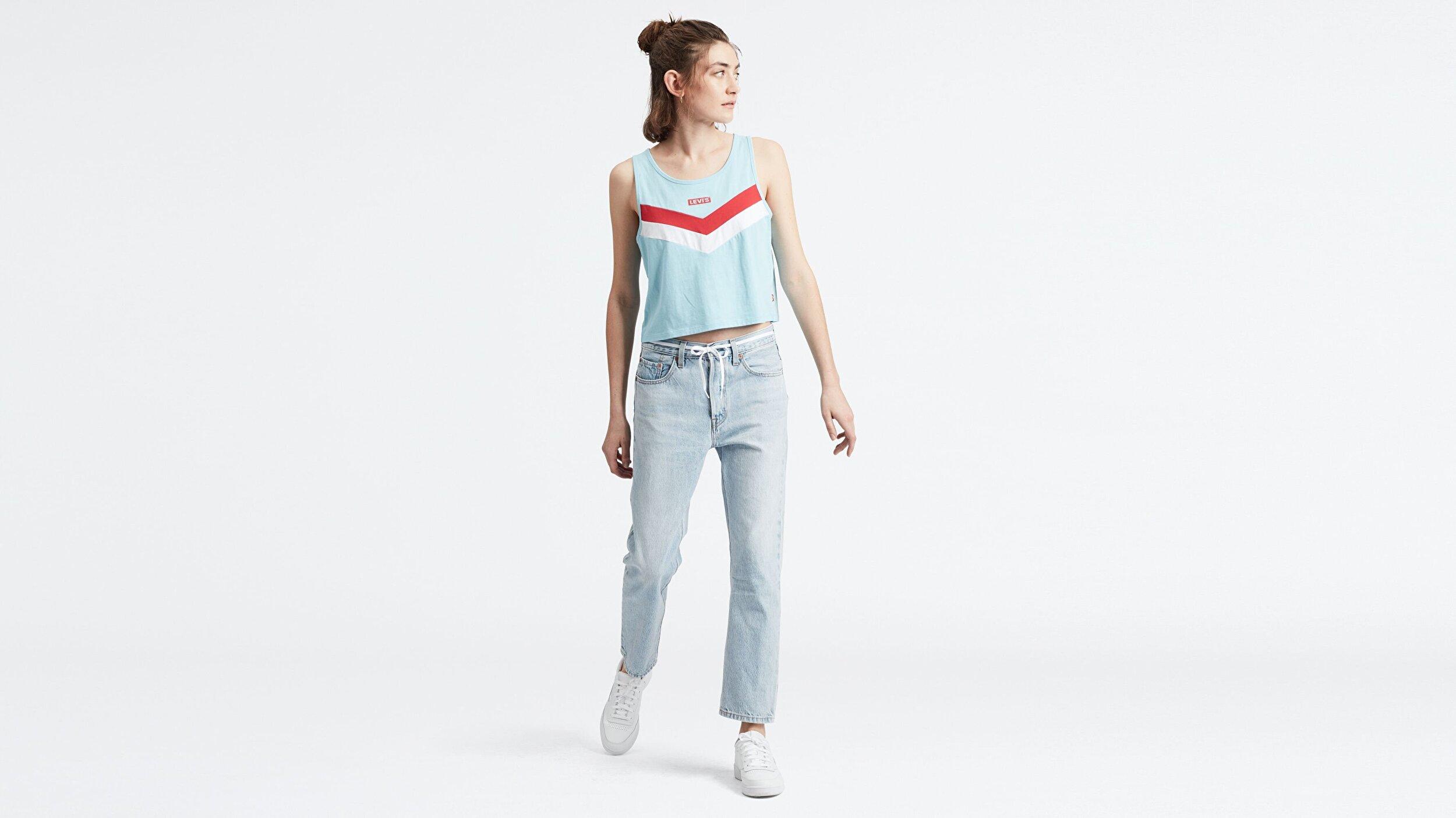 501® Kadın Crop Jean Pantolon-Montgomery Baked