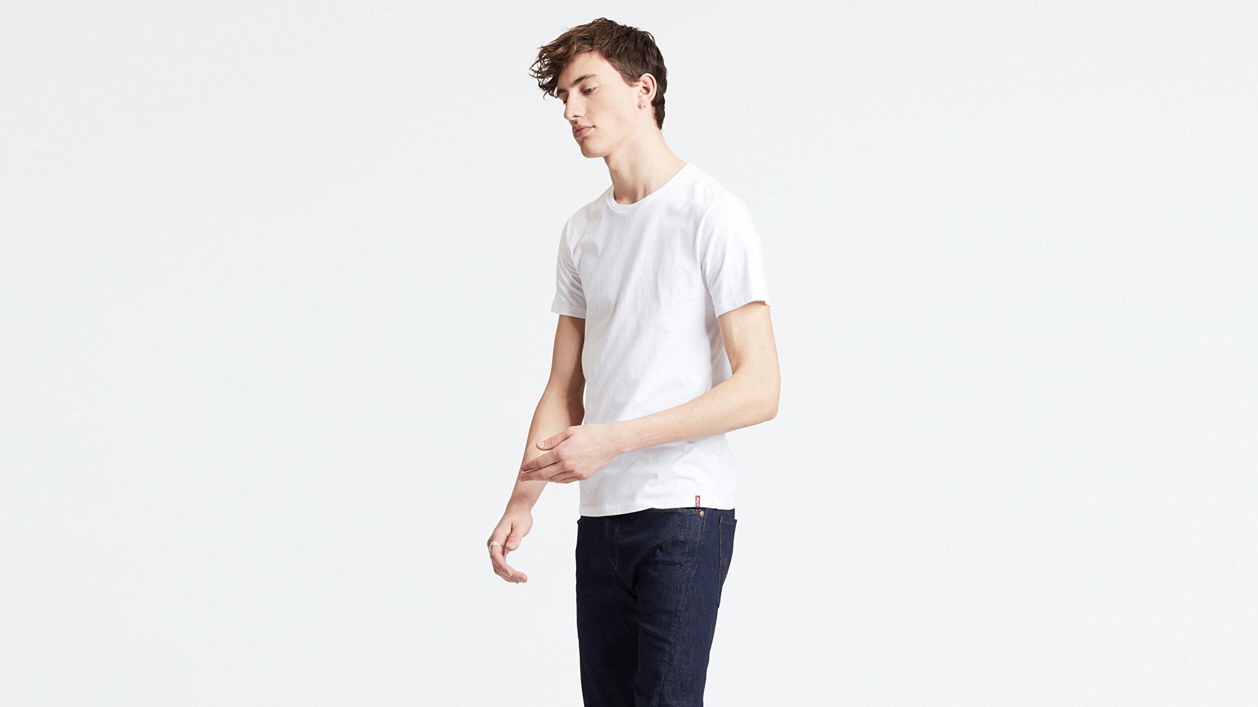 Slim 2Pk Crewneck 1 Two-Pack Tee Beyaz Erkek Tişört