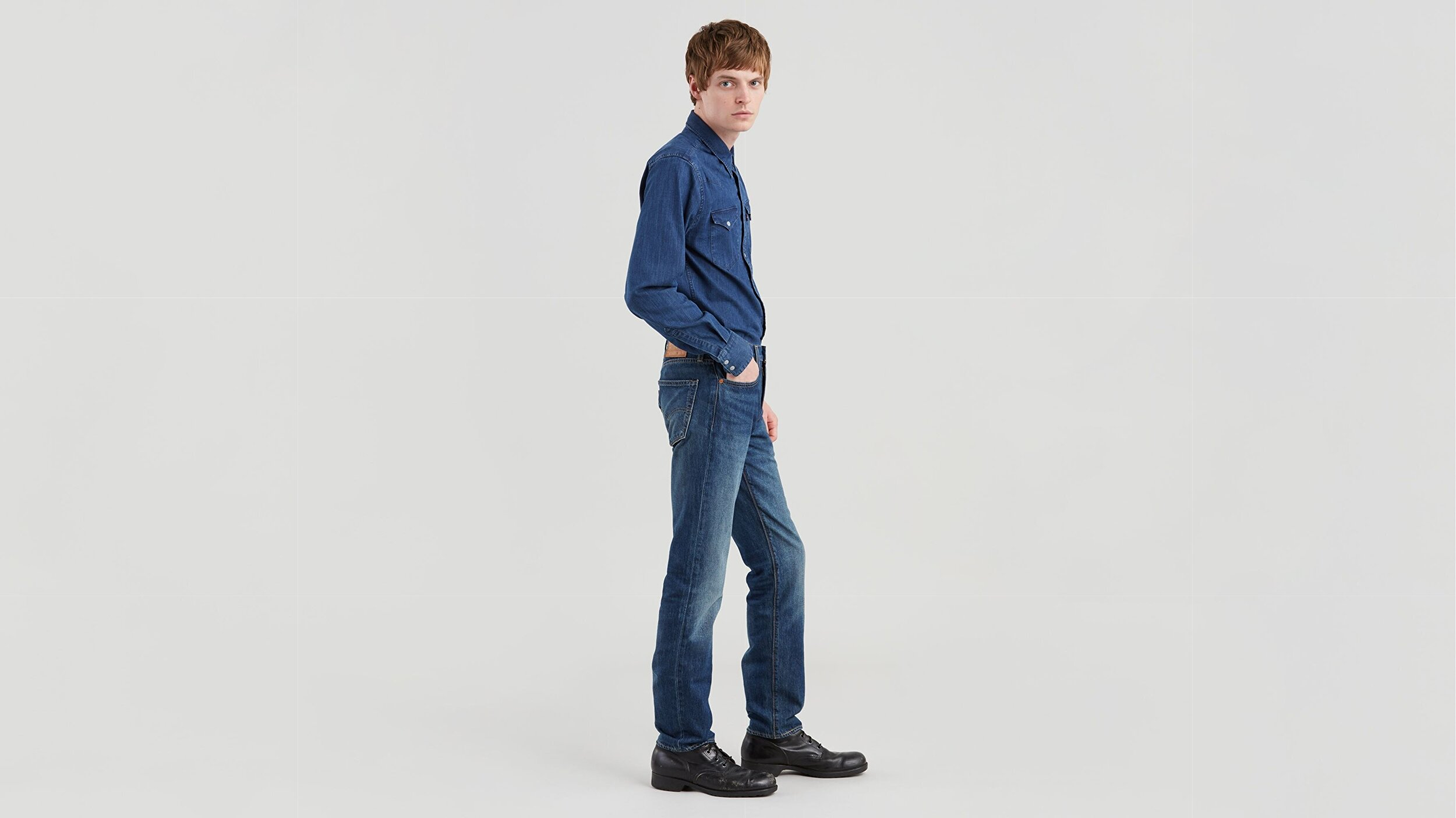 511™ Slim Fit Erkek Jean Pantolon-Megamouth Warp Cool