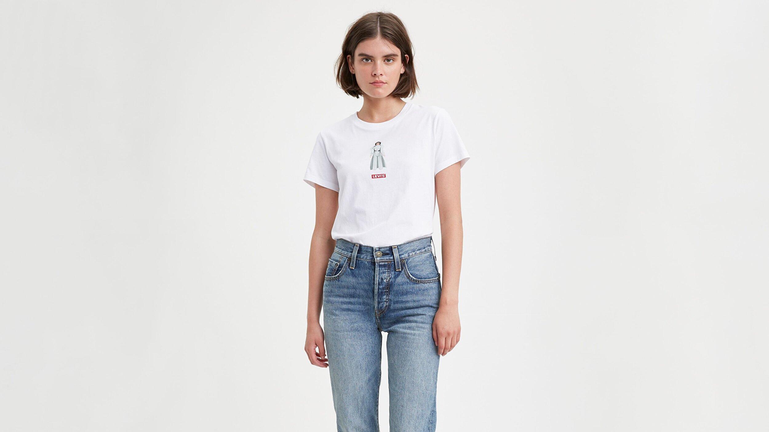 The Perfect Tee T2 Ss Princess Leia Beyaz Kadın Tişört