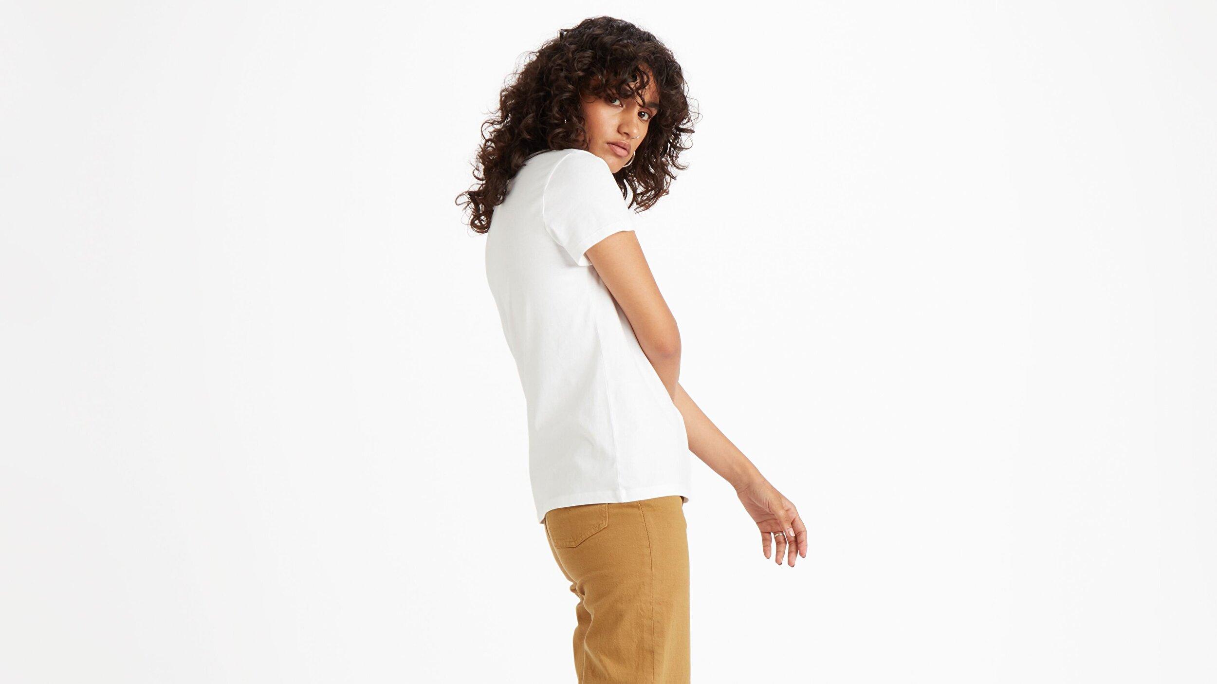 The Perfect Tee 90'S Serif T2 Beyaz Kadın Tişört