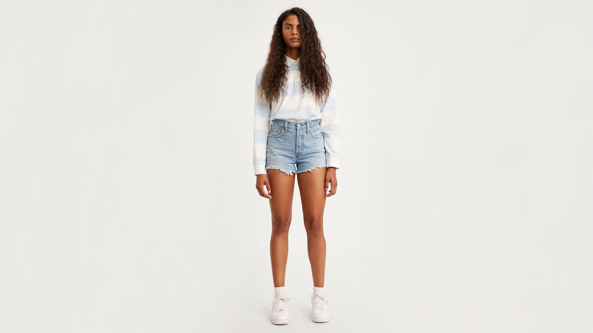 501® Yüksek Bel Kadın Jean Şort-Luxor Heat Short