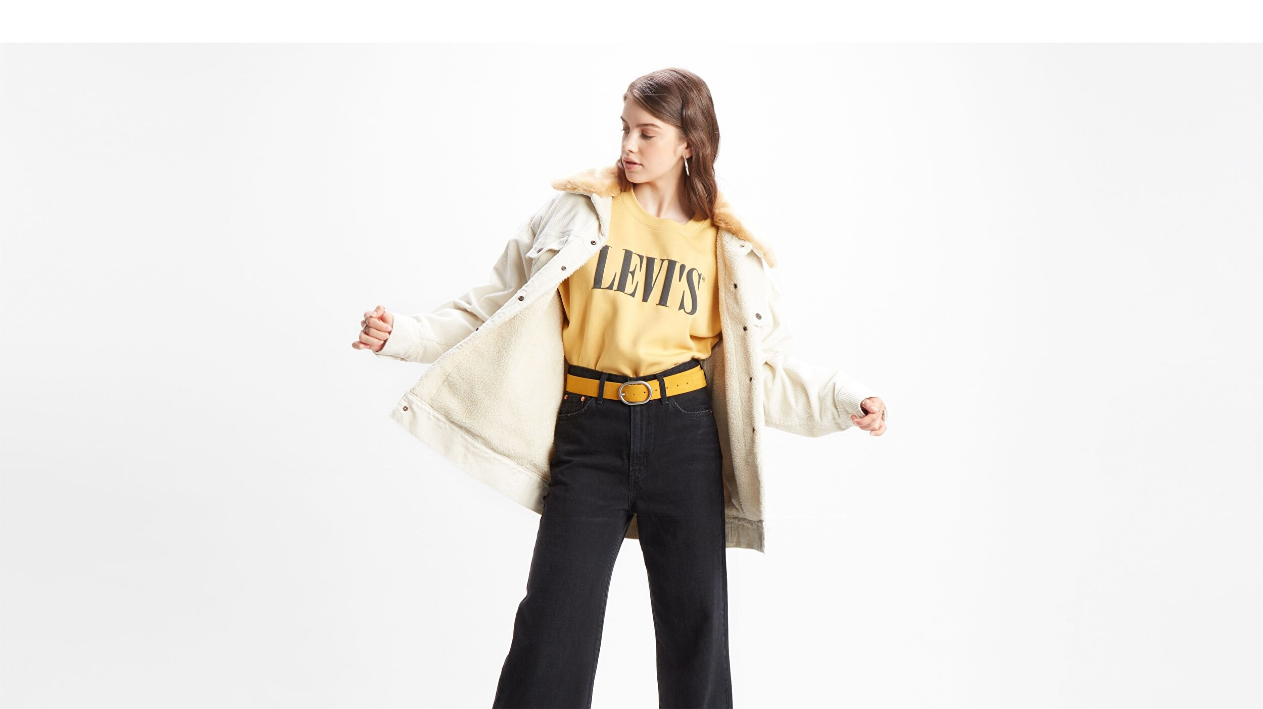 Graphic Diana Crew Crew T2 sarı Kadın Sweatshirt