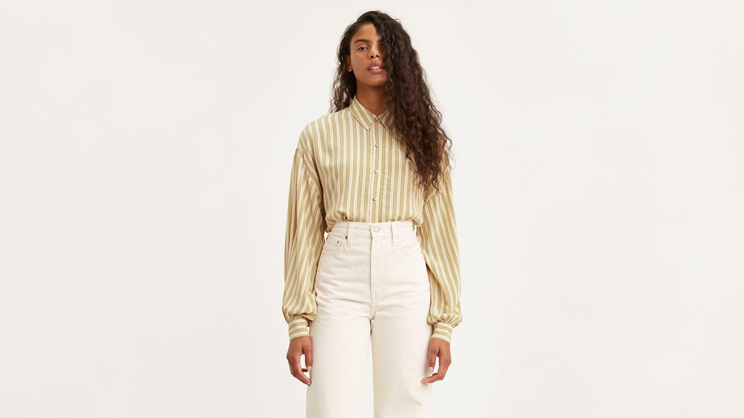 Margot Top Annita Stripe Çok renkli Kadın Gömlek