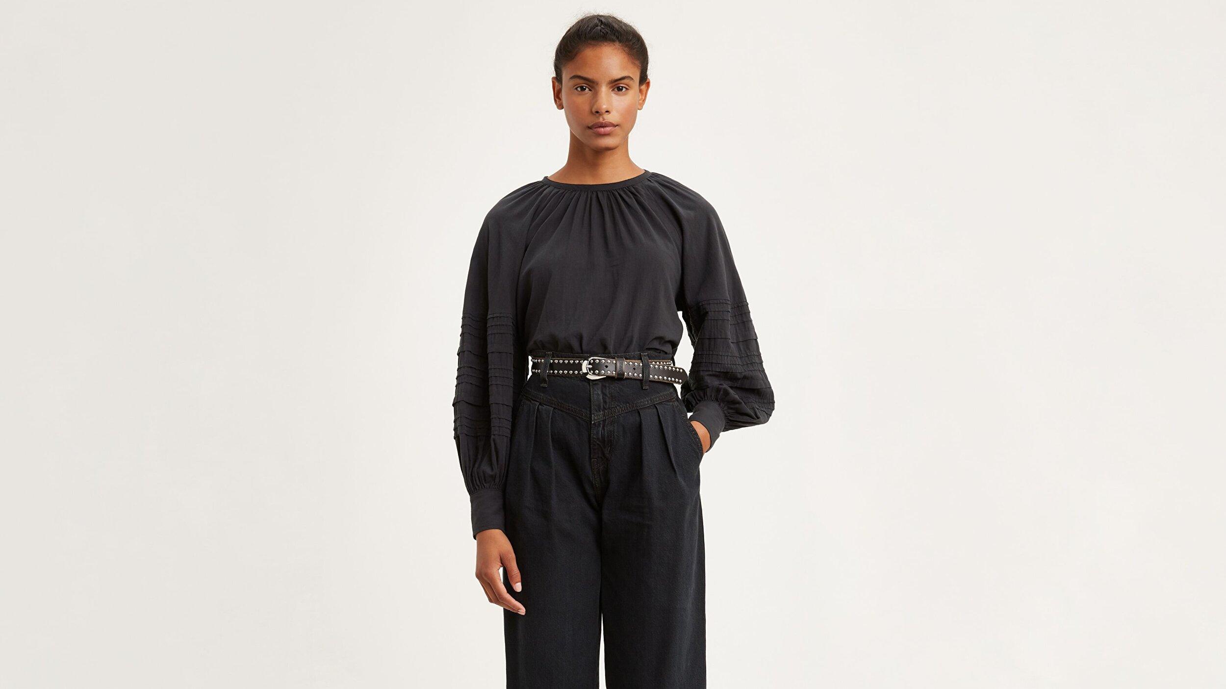 Emma Top Caviar Siyah Kadın Bluz