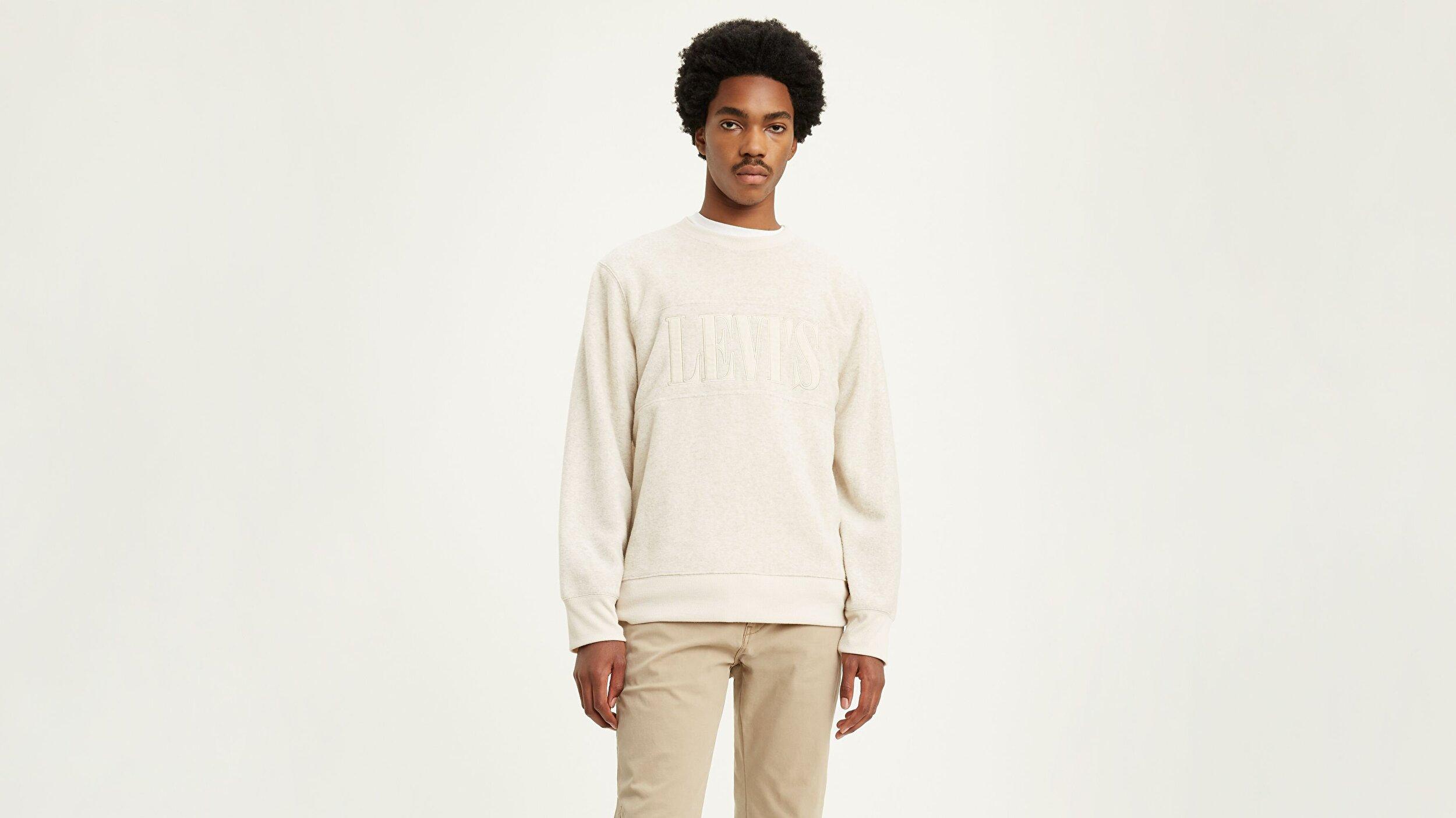 Polar Fleece Pop-Over Polar Fleece Beyaz Erkek Tişört