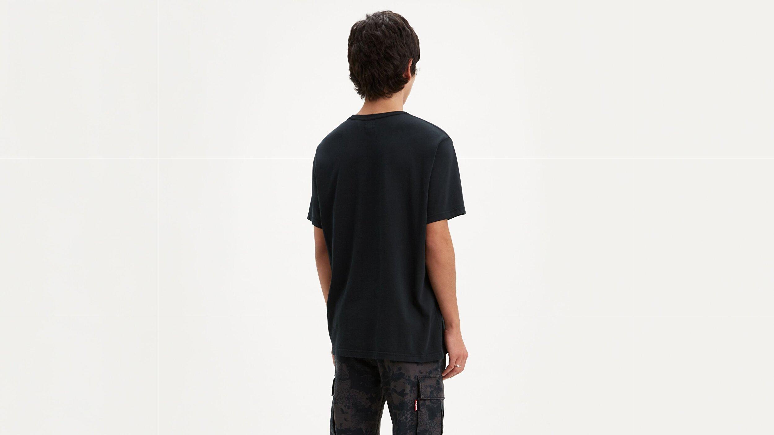 Authentic Crewneck Tee  Siyah Erkek Tişört