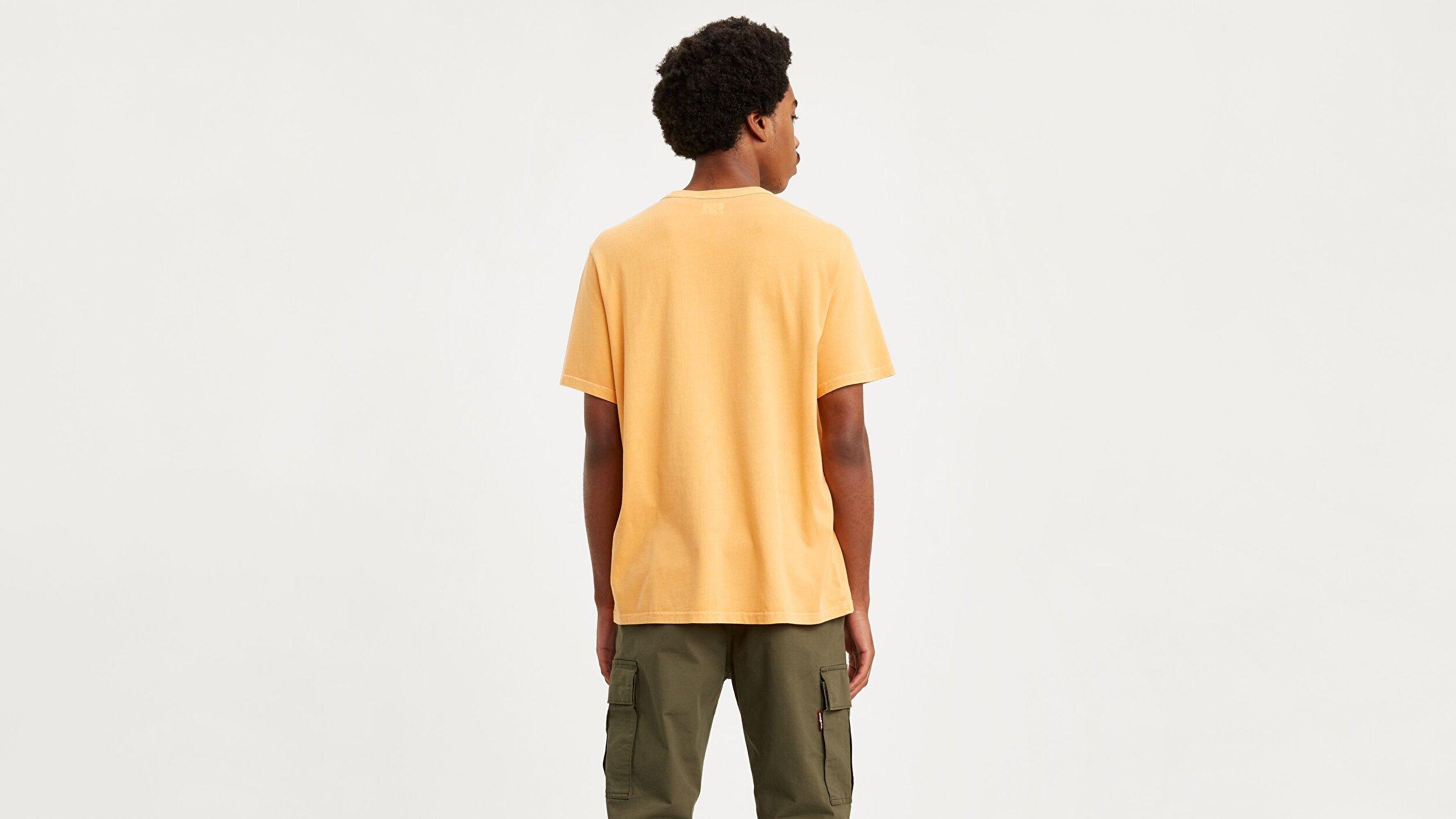 Authentic Crewneck Tee Golden Apricot sarı Erkek Tişört