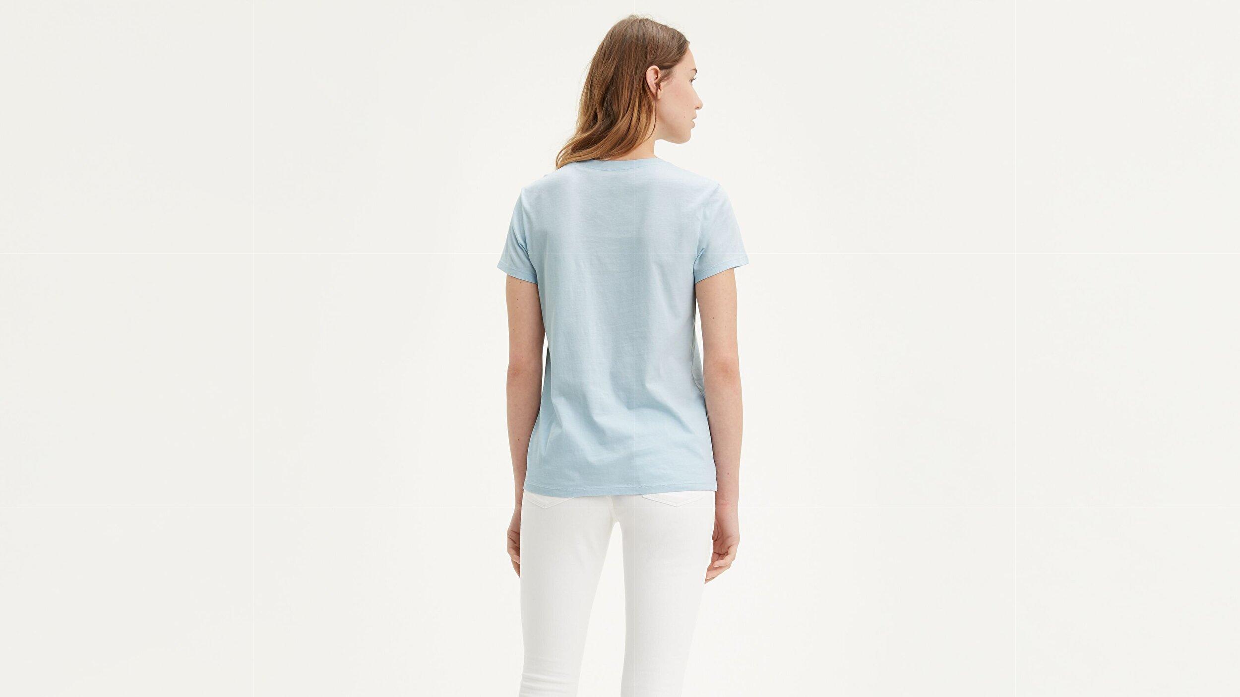 The Perfect Tee Bw T3 Mavi Kadın Tişört