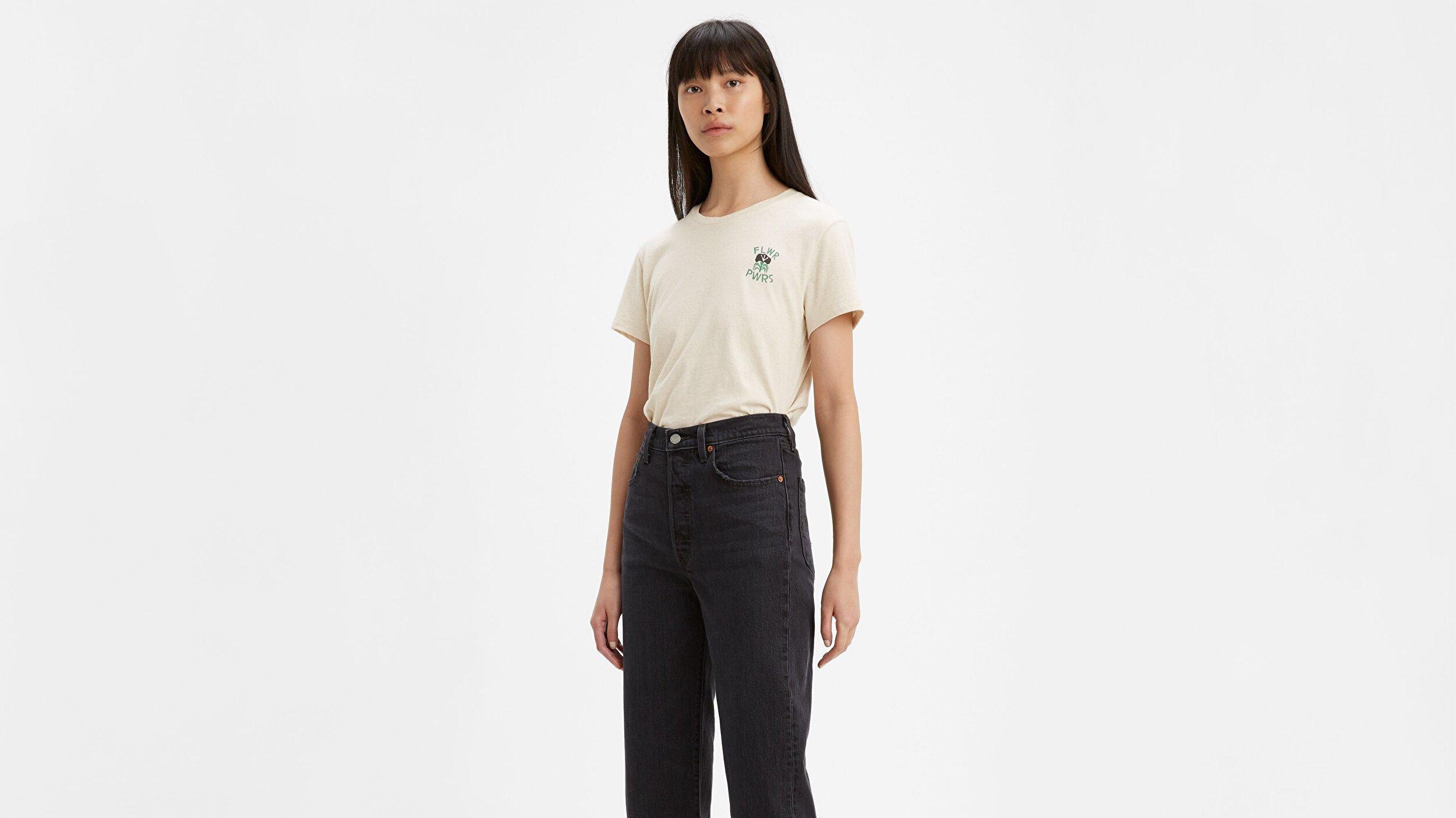 Wellthread Perfect Tee Sand Cotton Hemp Beyaz Kadın Tişört