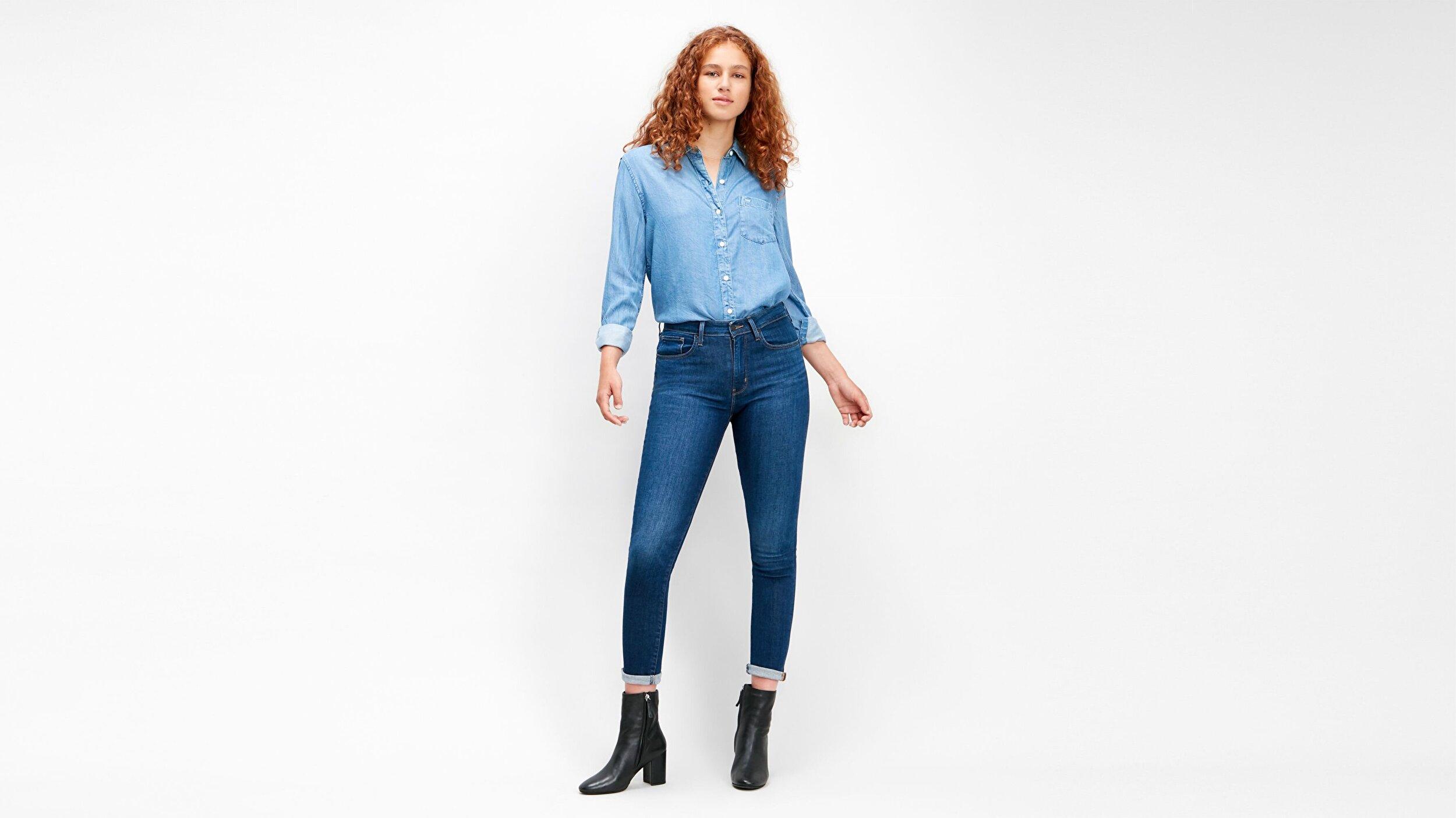 721 Yüksek Belli Skinny Kadın Jean