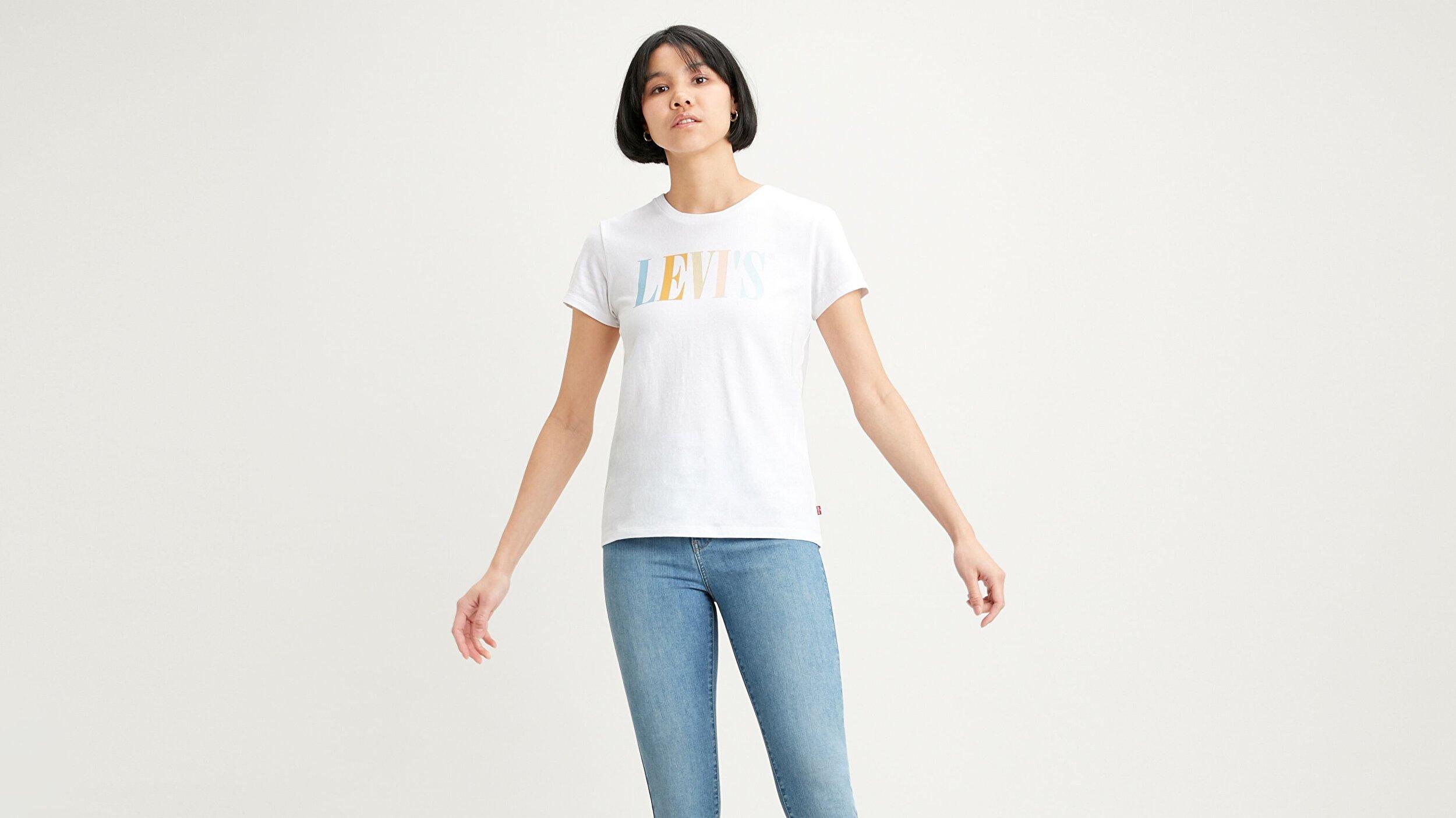 The Perfect Tee 90'S Serif Beyaz Kadın Tişört