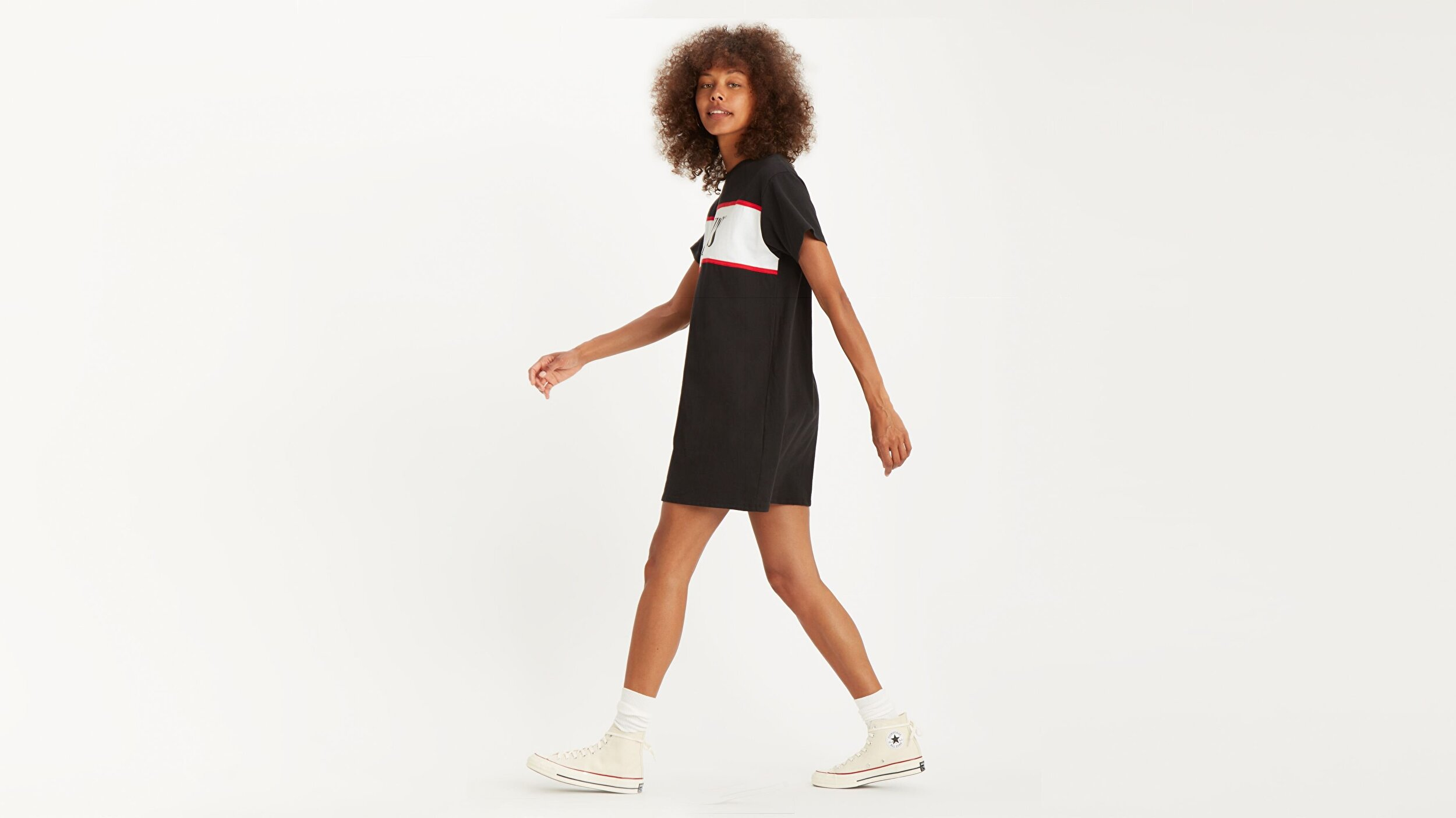 LOGO TEE DRESS LOGO DRESS MINERAL BLACK