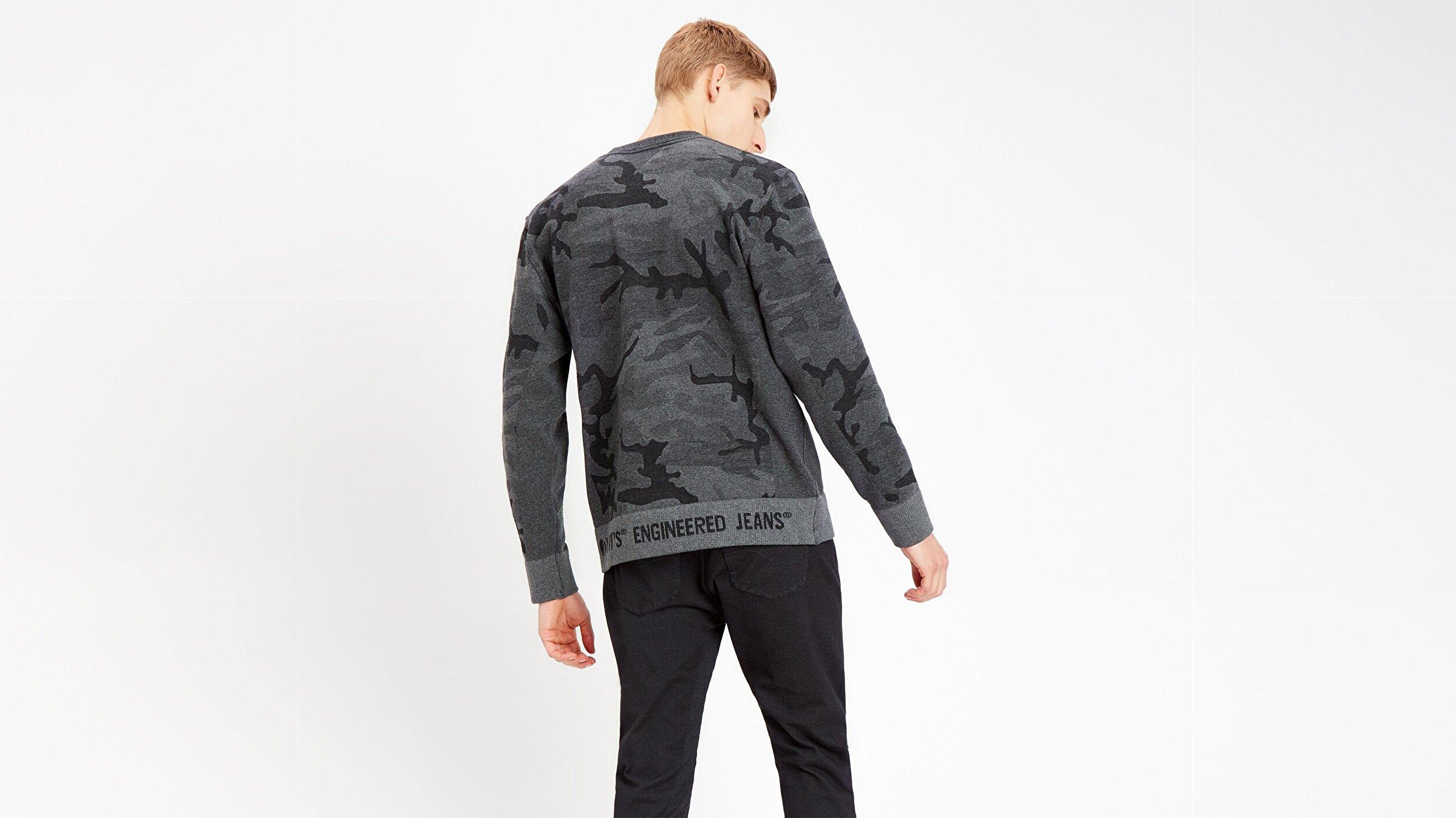 Lek Crewneck Sweatshirt Lek Camo Gri Erkek Sweatshirt