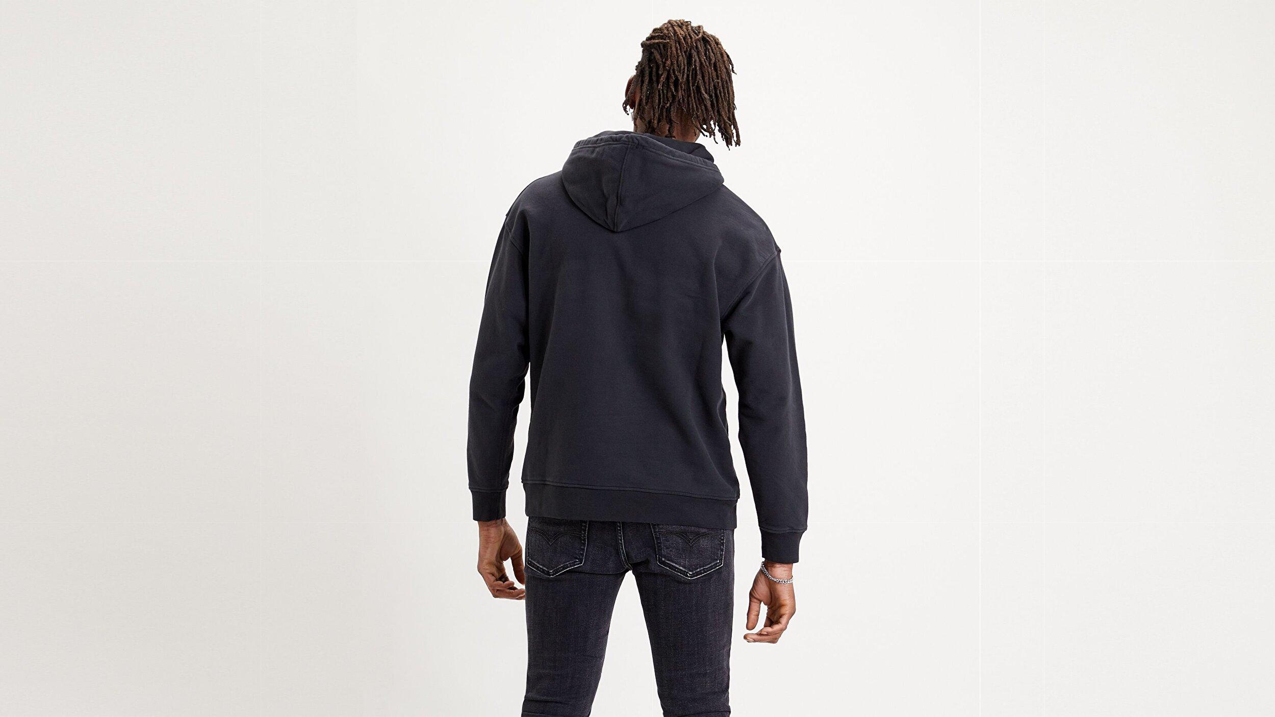 T2 Relaxd Graphic Hoodie Ssnl Serif Beyaz Erkek Kapüşonlu Sweatshirt