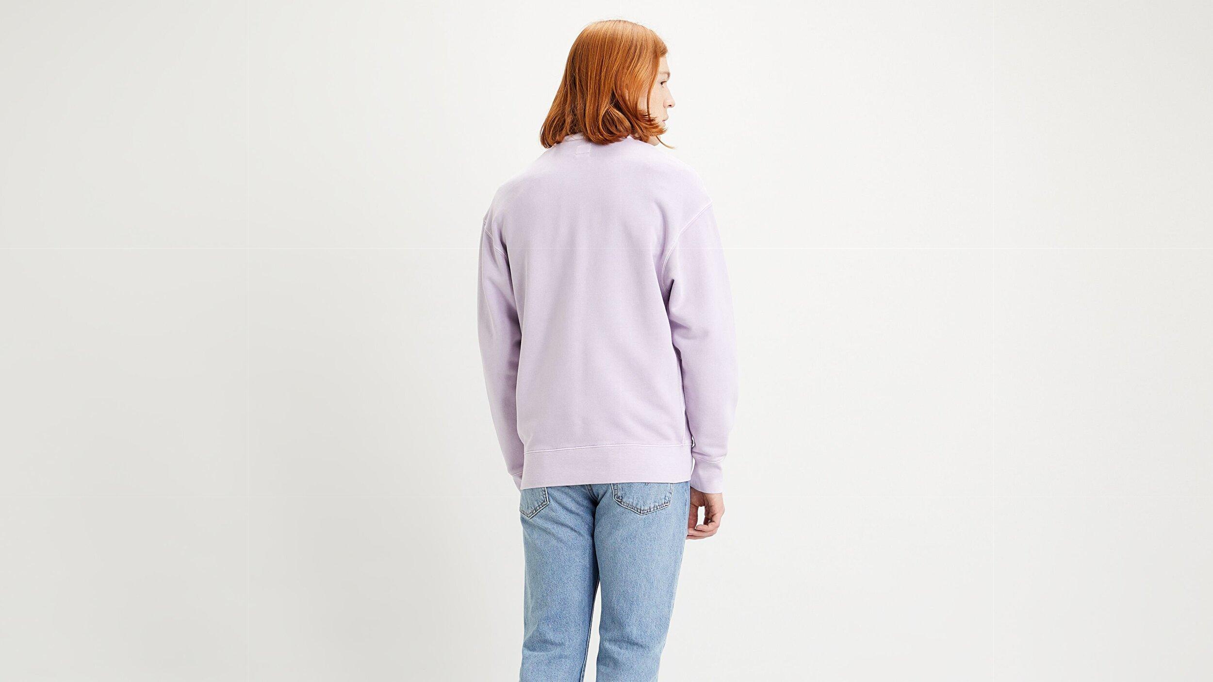 Authentic Logo Crewneck Ft Garment Çok renkli Erkek Sweatshirt