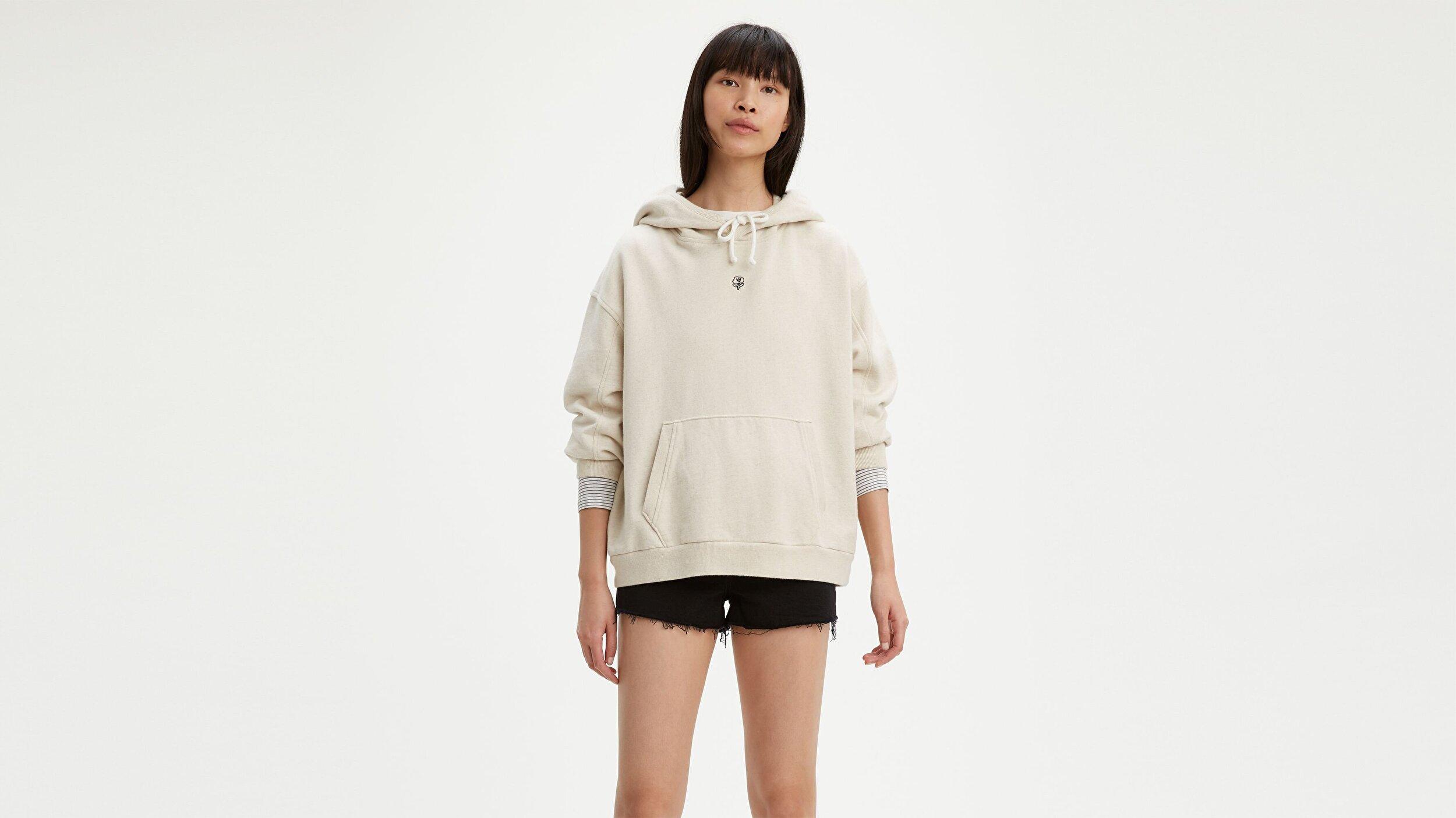 Wltrd Hoodie Beach Break Beyaz Kadın Kapüşonlu Sweatshirt