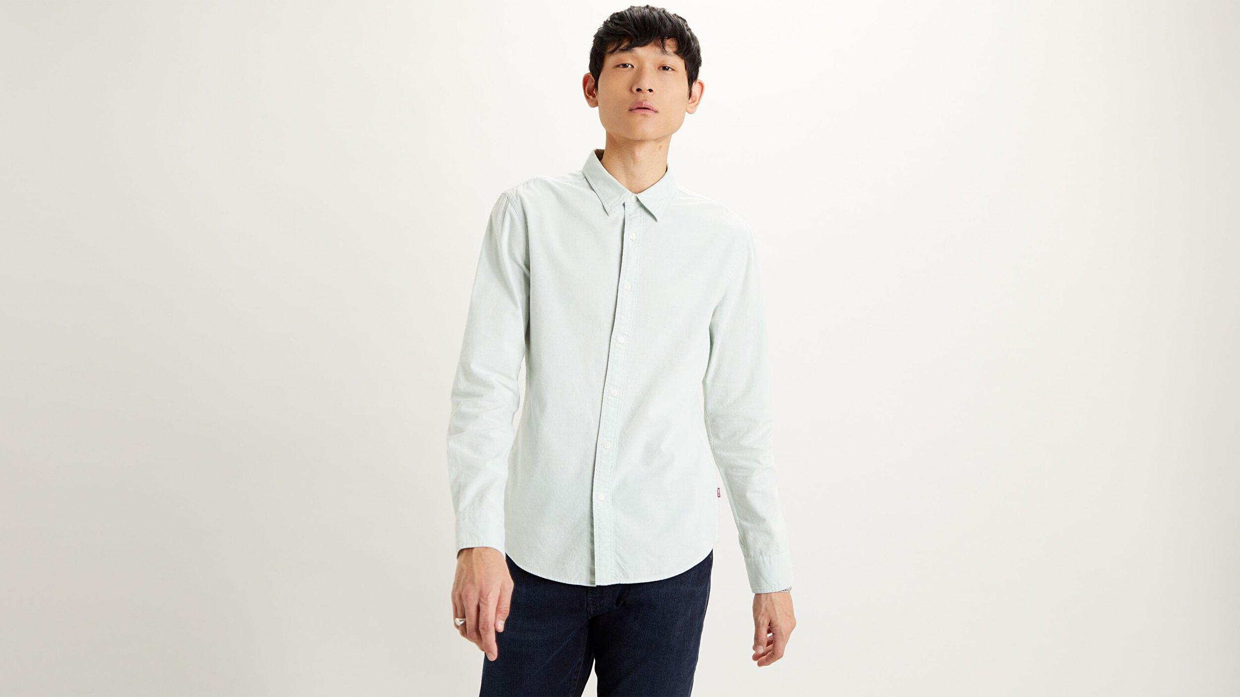 Ls Battery Hm Shirt Slim  Açık Gri Erkek Gömlek