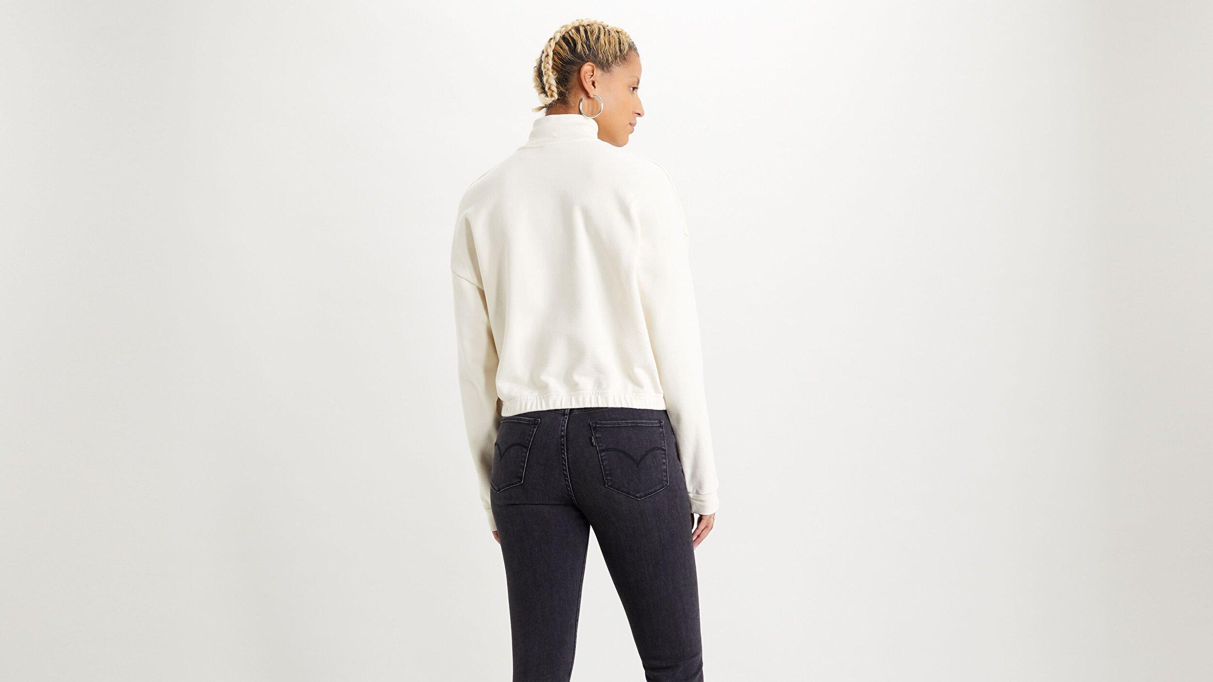 Pom Quarter Zip Tofu Beyaz Kadın Sweatshirt