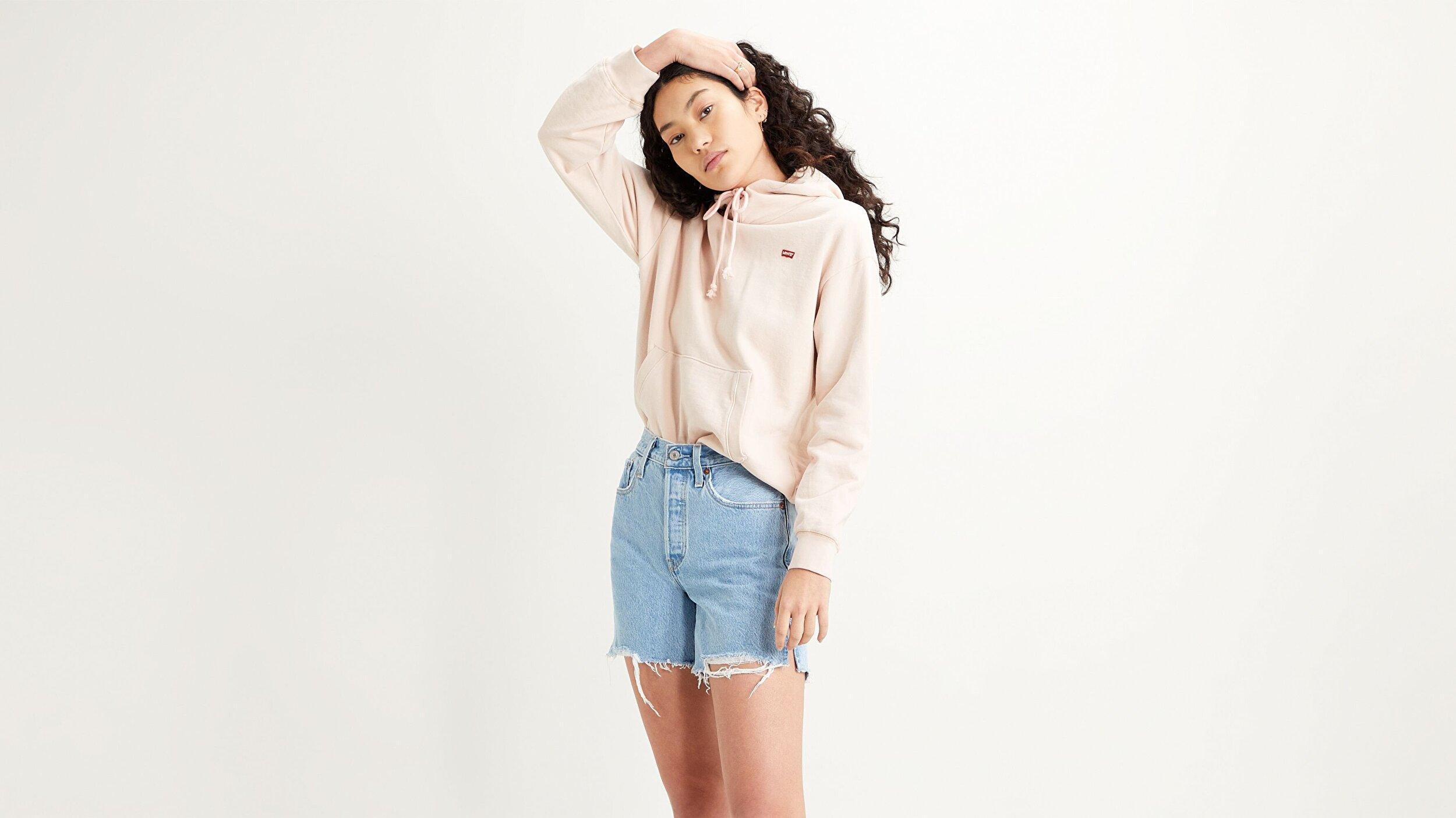 Standard Hoodie Sepia Rose Beyaz Kadın Kapüşonlu Sweatshirt