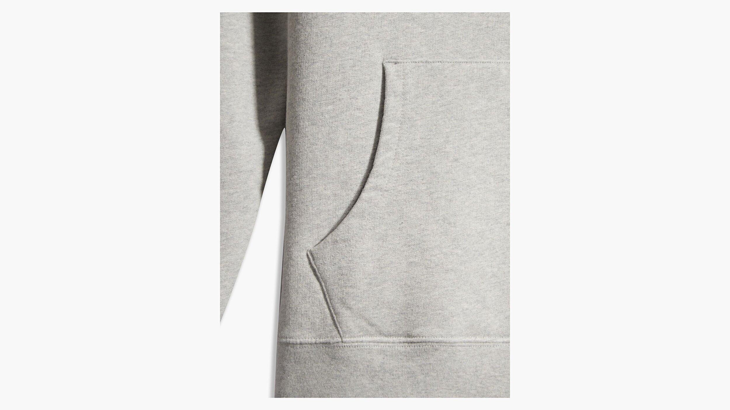 New Original Hoodie Eco Gri Erkek Kapüşonlu Sweatshirt