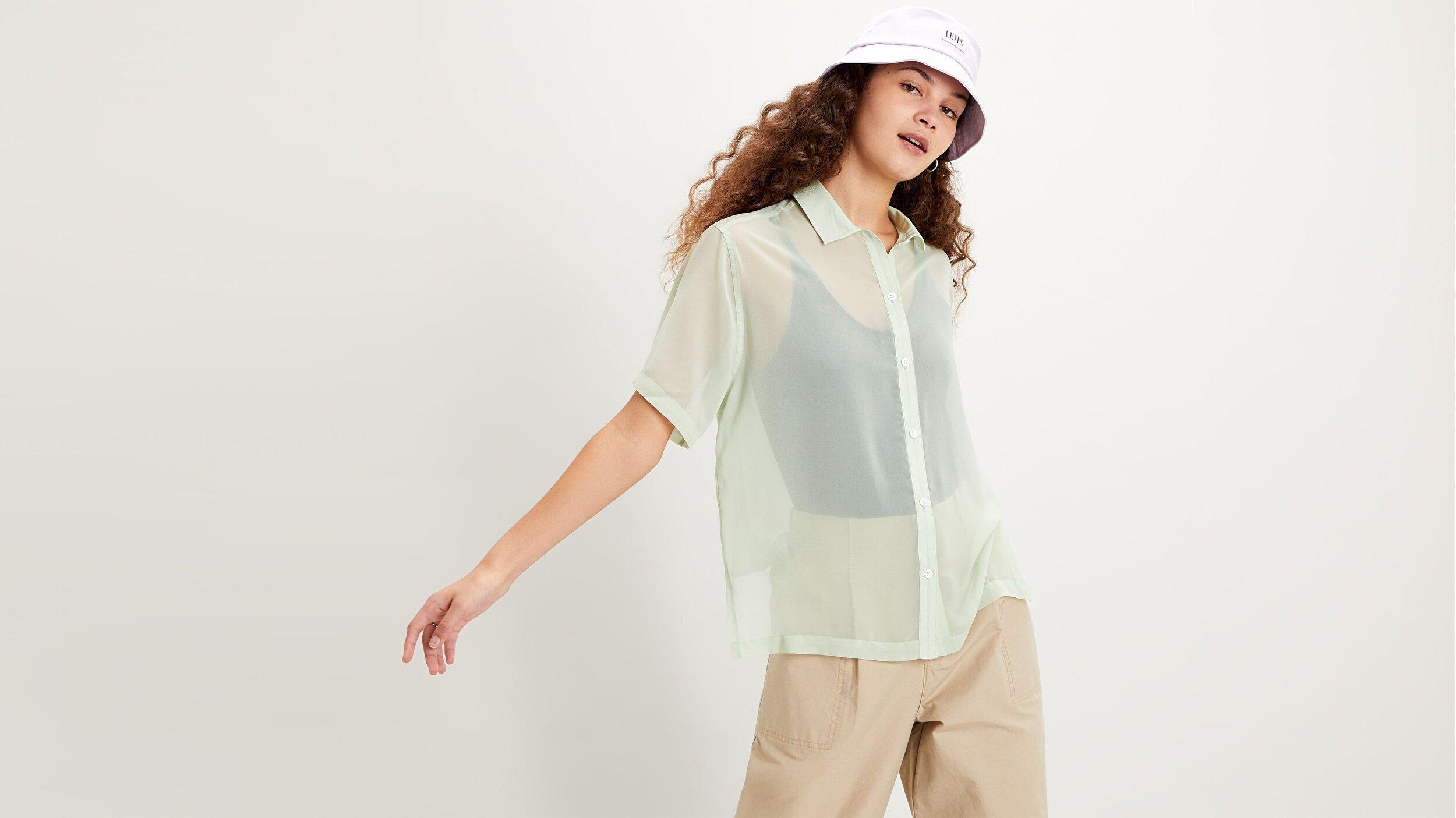 Aster Shirt Bok Choy Yeşil Kadın Gömlek