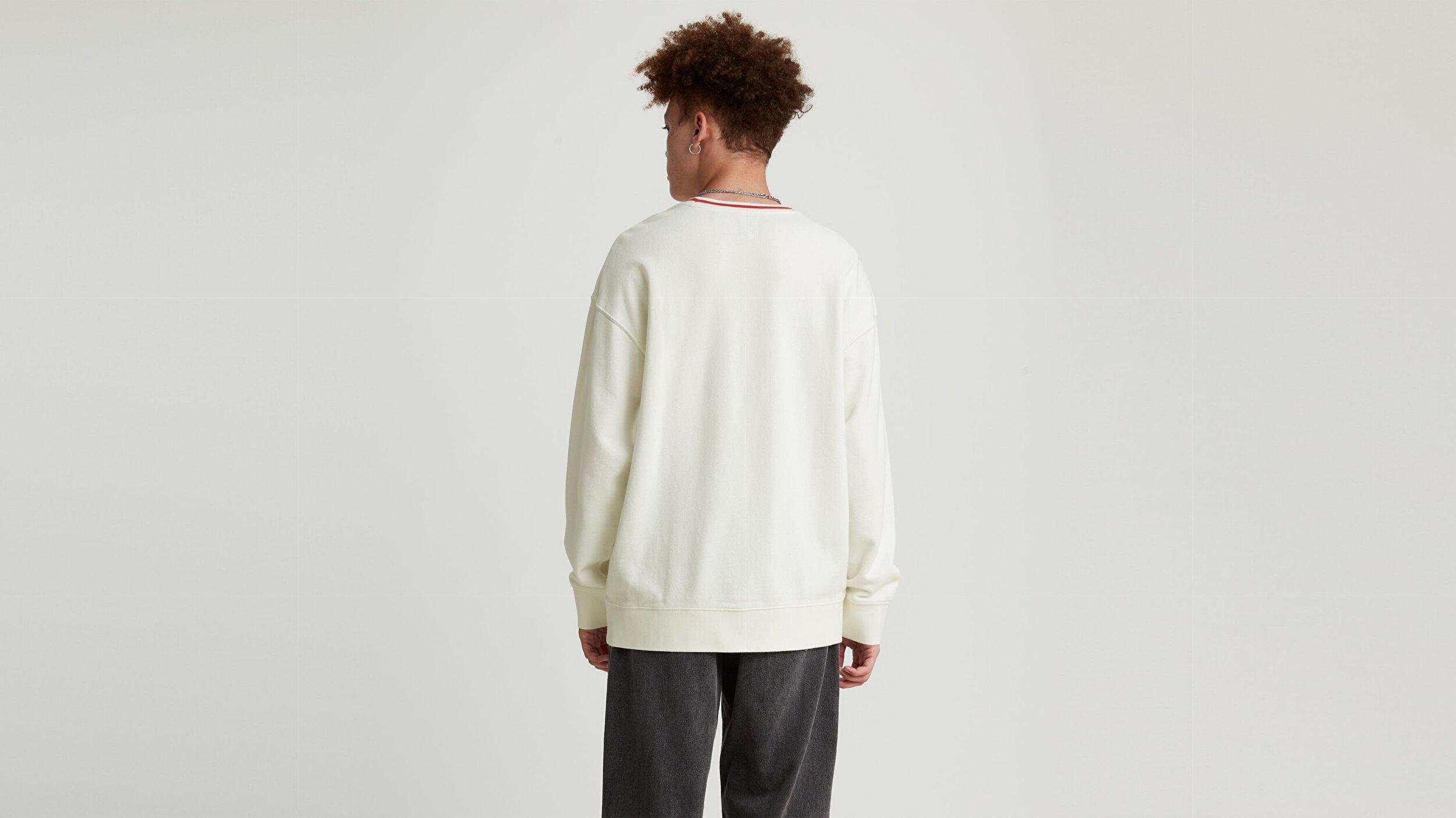 Rlxd Crew Sweatshirt Tennis Snoopy Beyaz Erkek Sweatshirt