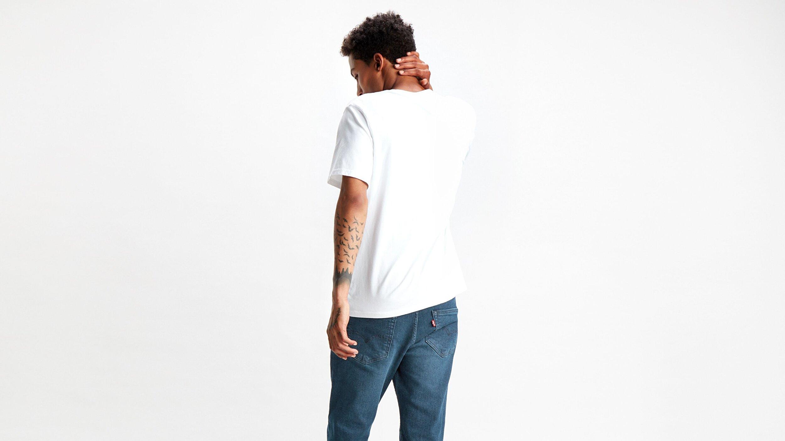 Relaxed Graphic Tee 90'S Serif Beyaz Erkek Tişört