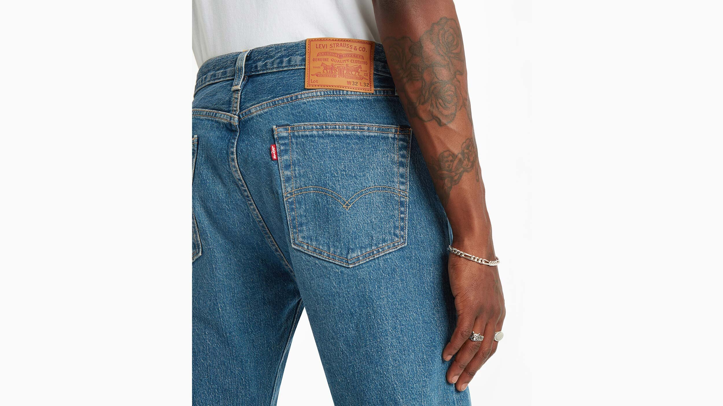 501® '93 Straight Fit Erkek Jean Pantolon-Bleu Eyes Peak
