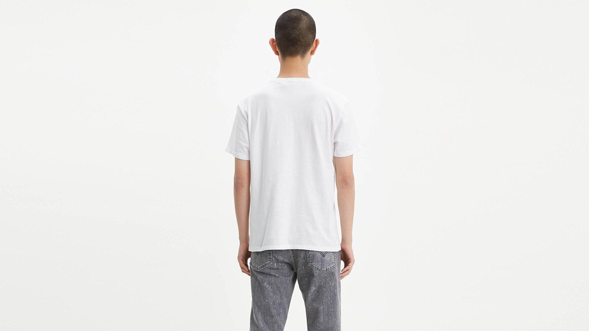 Graphic Set-In Neck Hm Graphic Beyaz Erkek Tişört